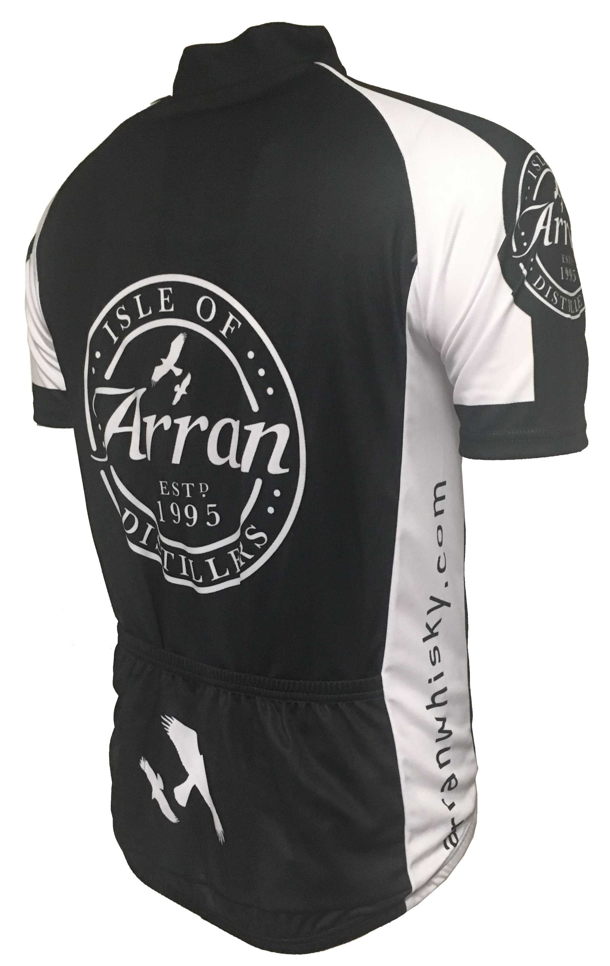 Arran Malt Whisky Black Enduro Cycling Jersey Back