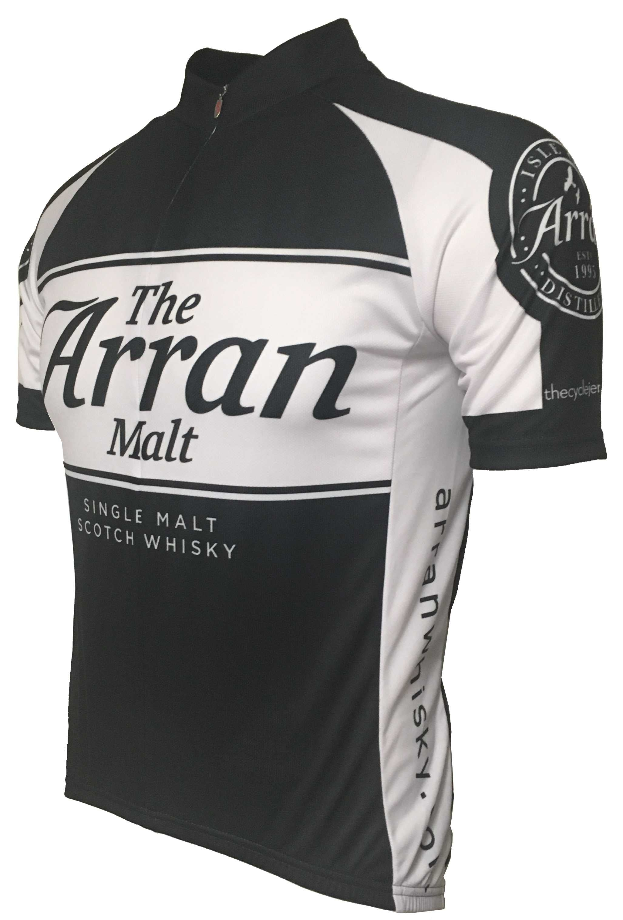 Arran Malt Whisky Black Road Cycling Jersey Front