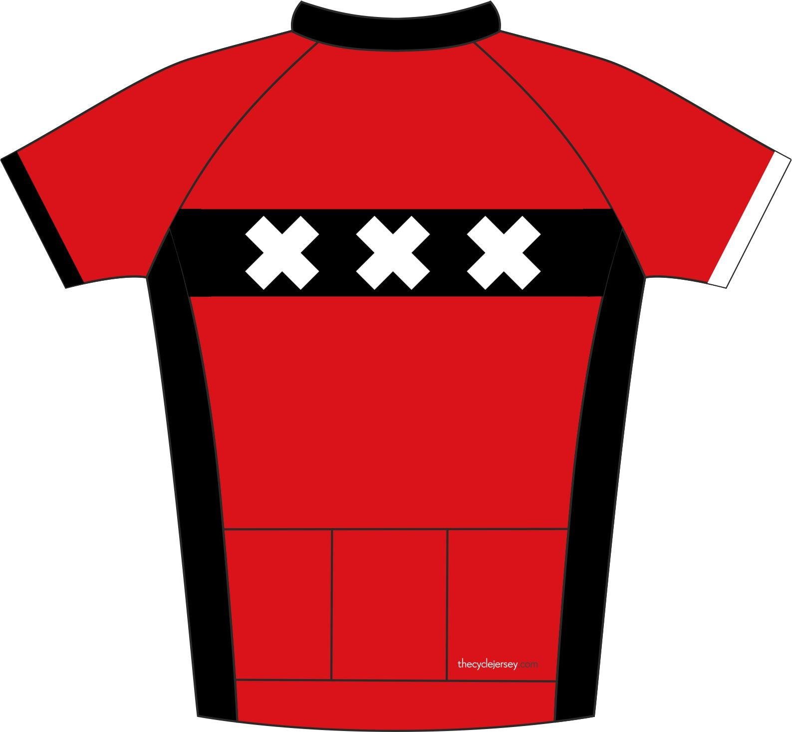 Amsterdam Road Cycling Jersey Back