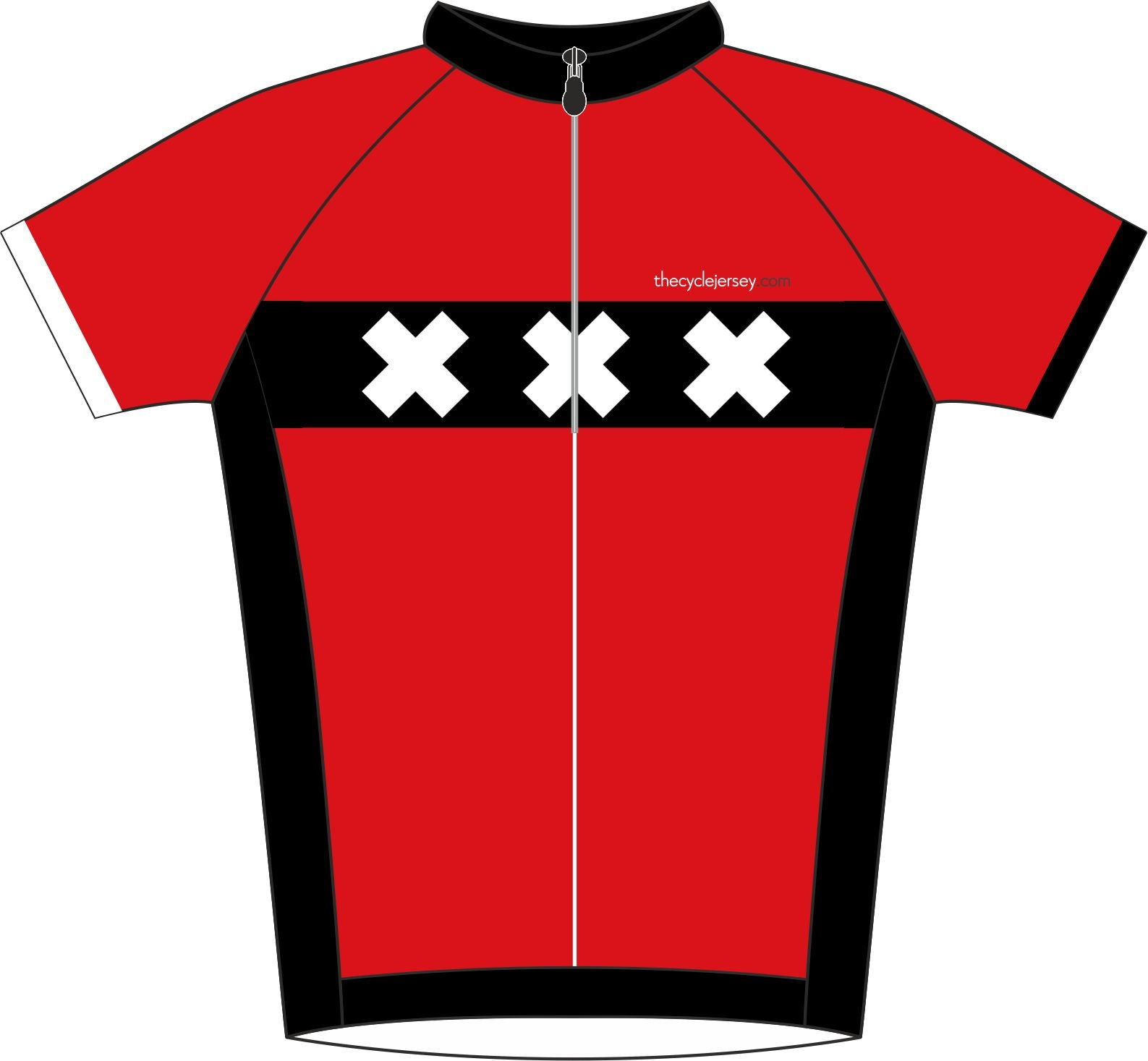 Amsterdam Road Cycling Jersey Front