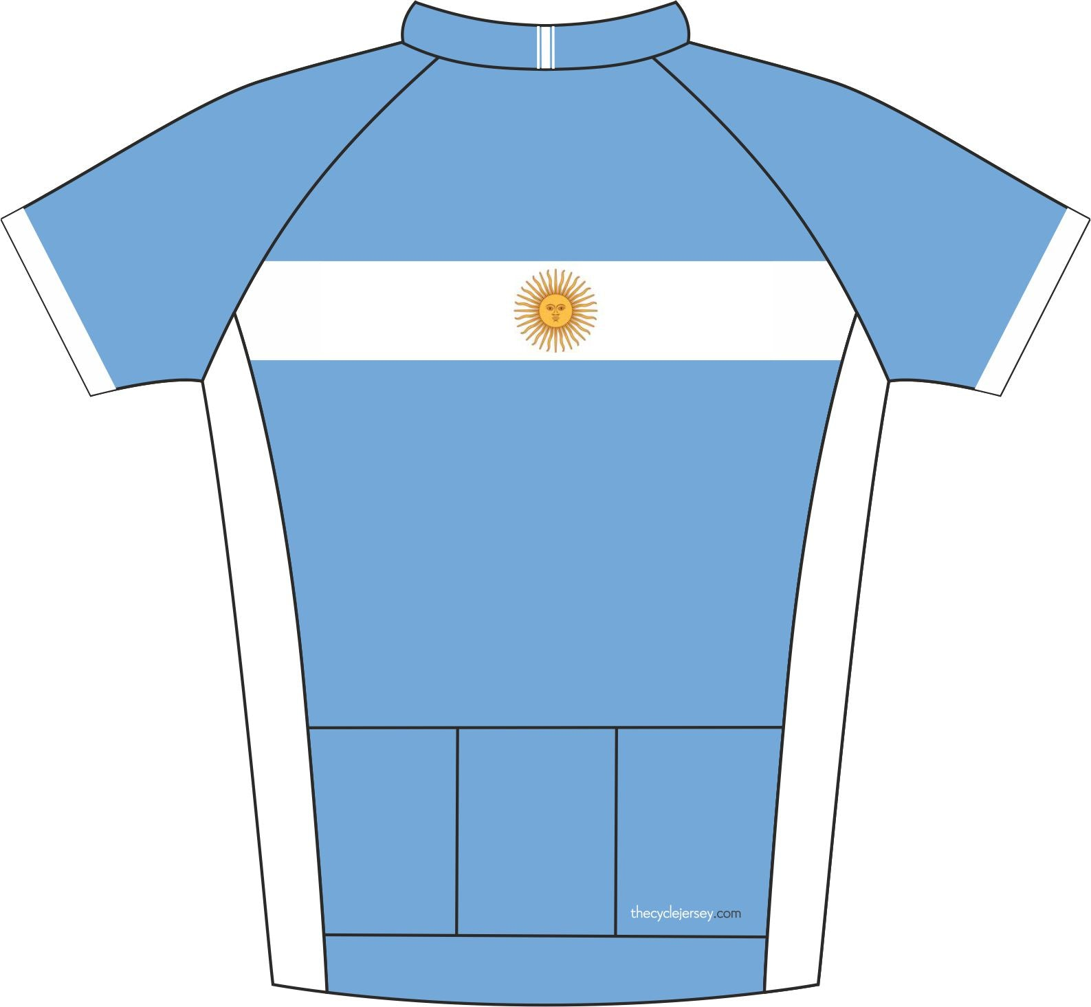 Argentina Road Cycling Jersey Back