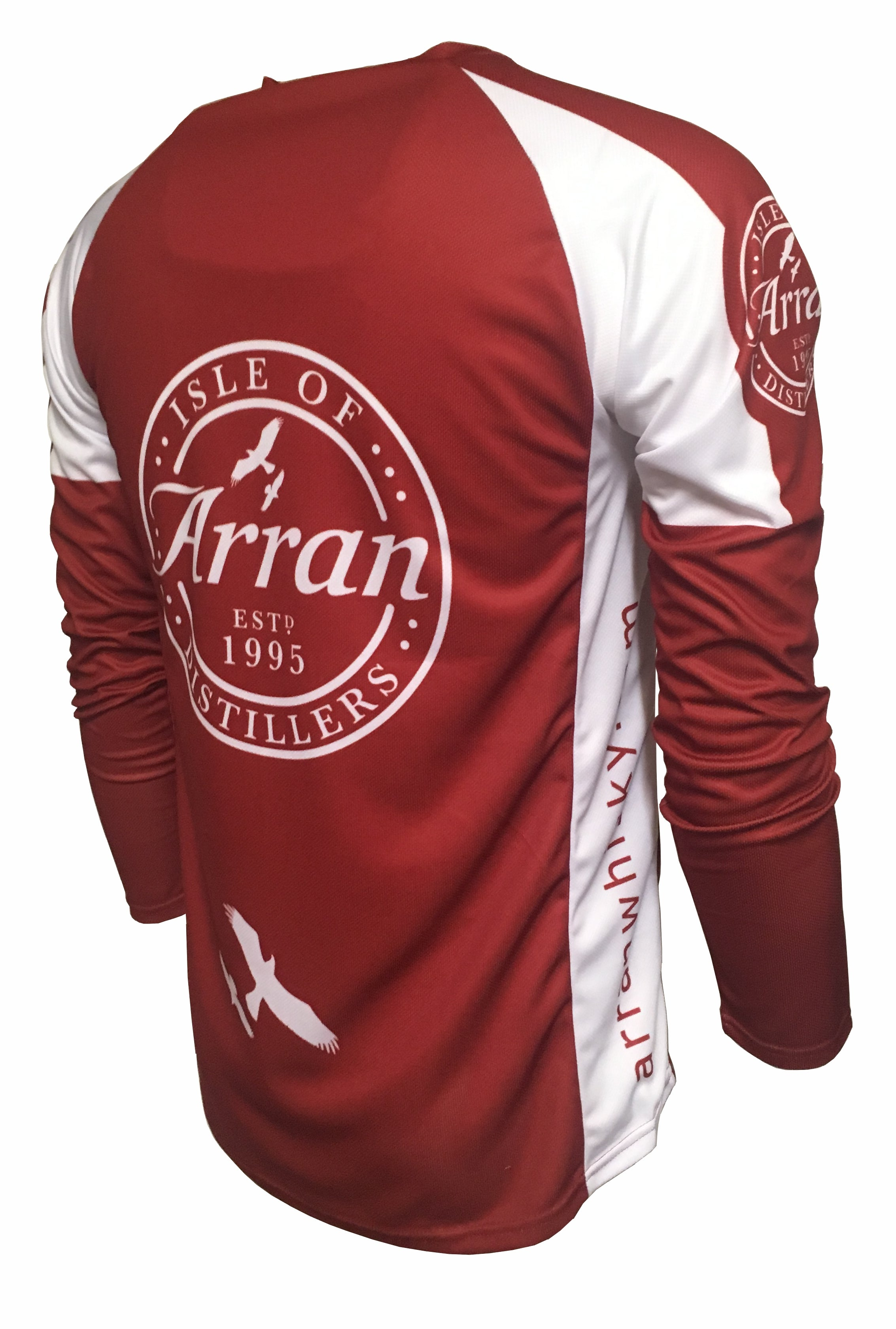 Arran Malt Whisky Red Enduro Cycling Jersey Back