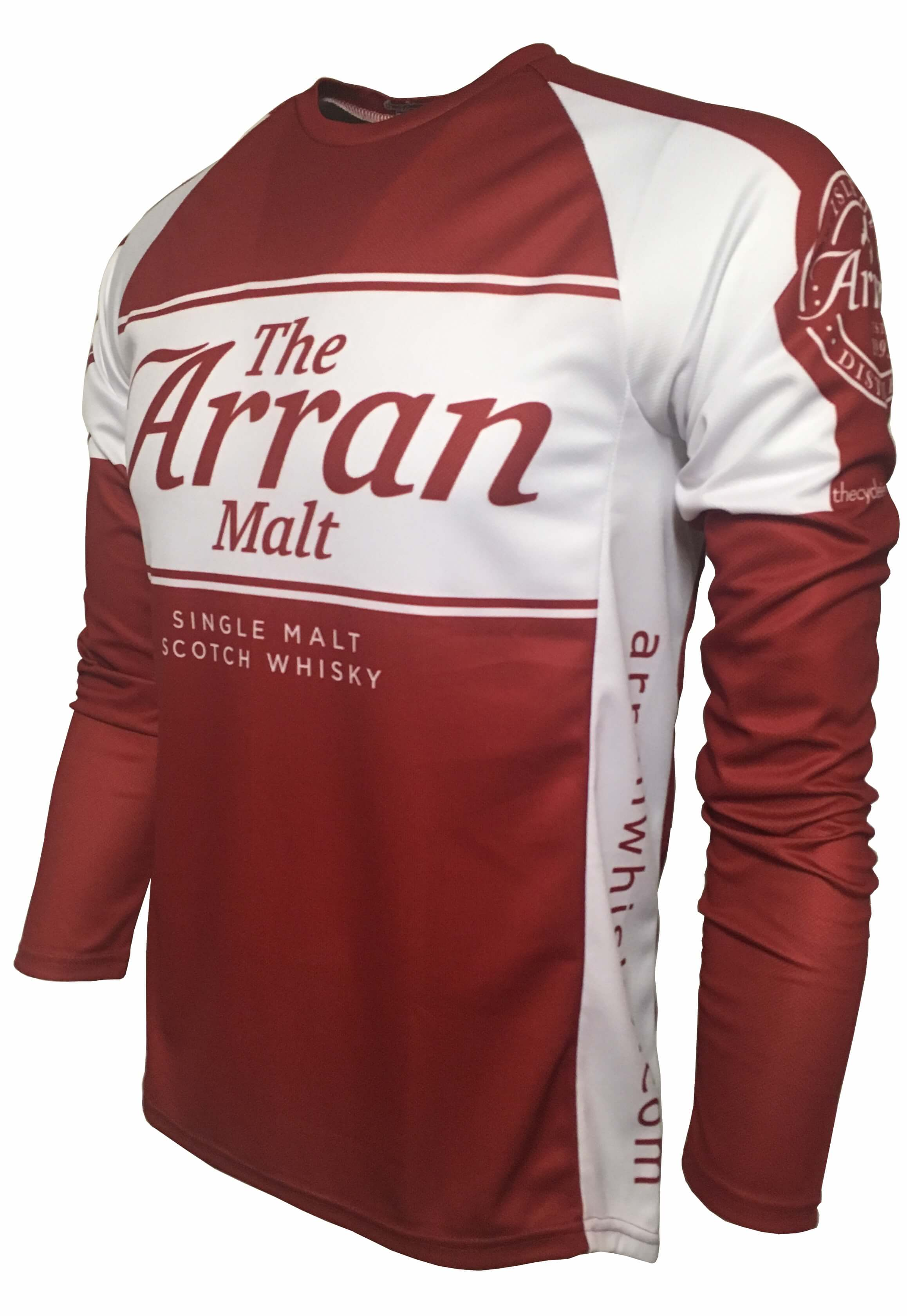 Arran Malt Whisky Red Enduro Cycling Jersey Front