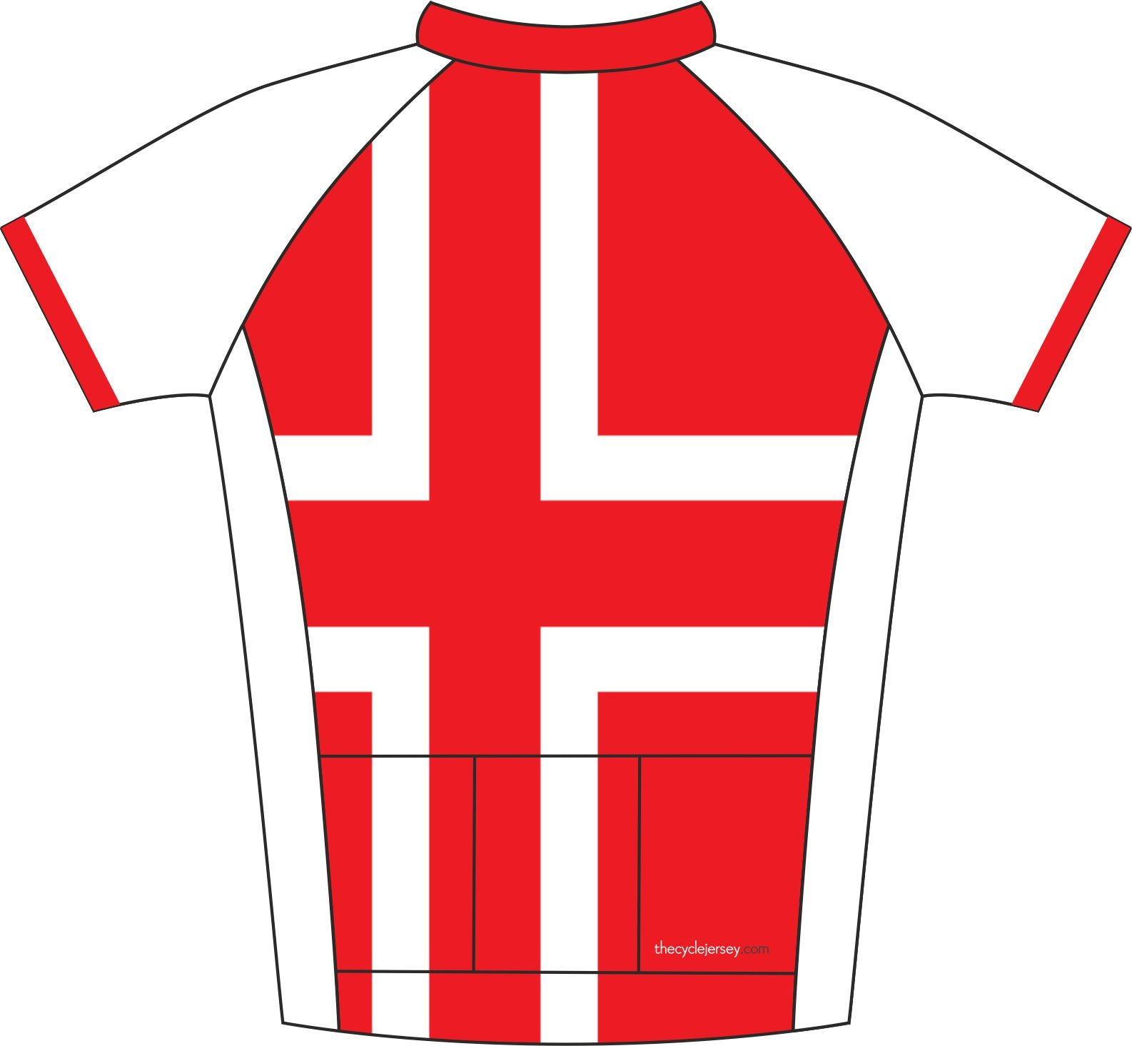 Austria Enduro Cycling Jersey Back