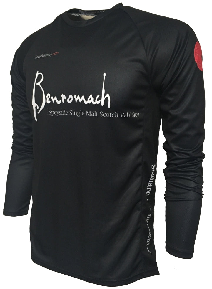 Benromach Single Malt Whisky Enduro Cycling Jersey Front