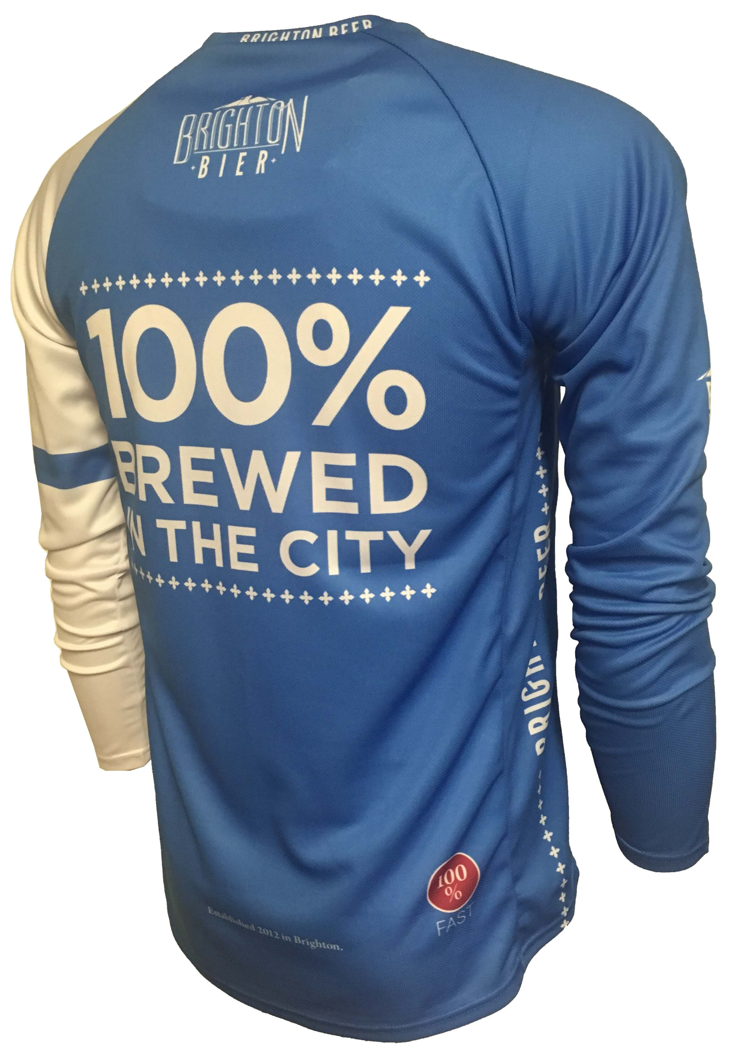 Brighton Bier Can Beer Enduro Cycle Jersey Back