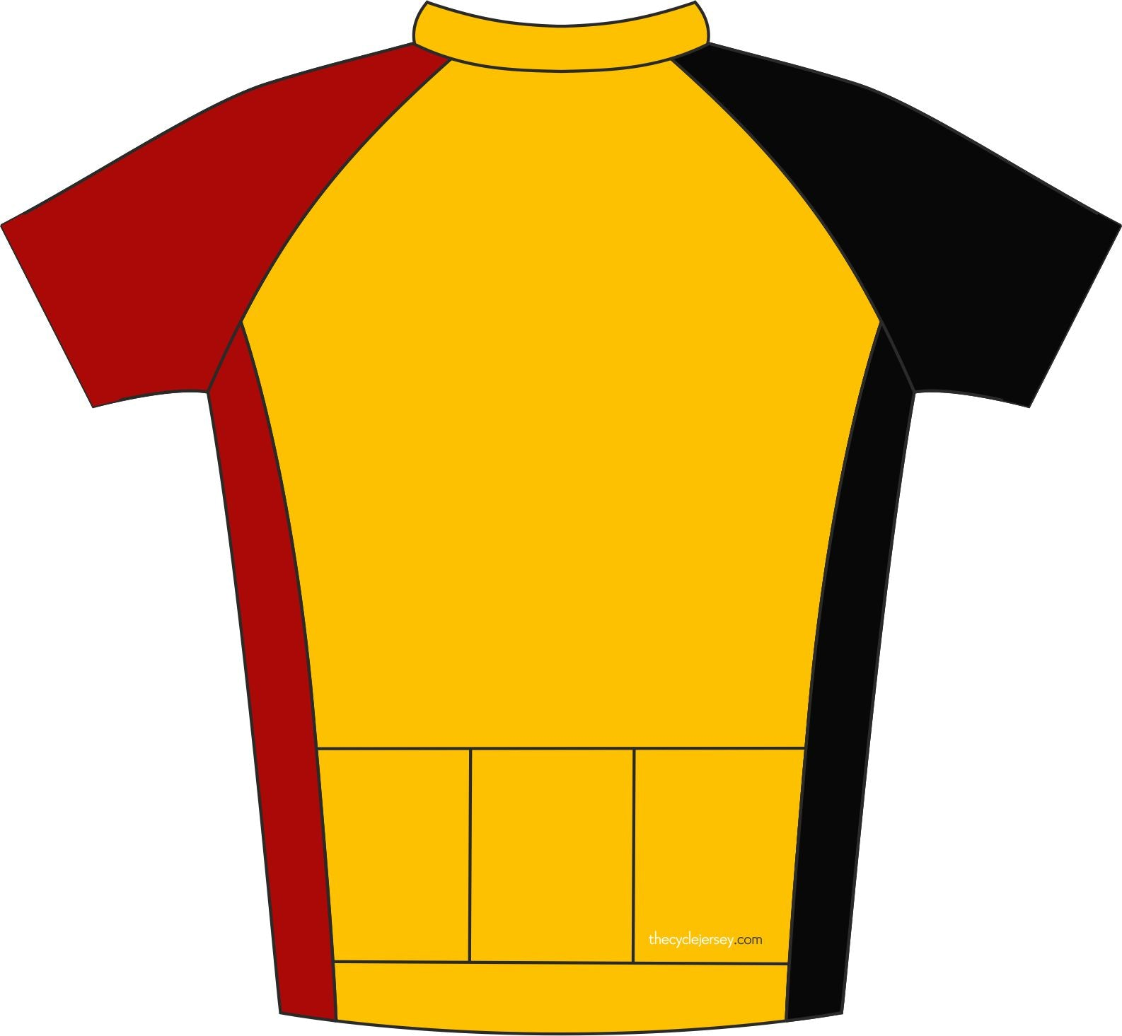 Belgium Kids Road Cycle Jersey Back