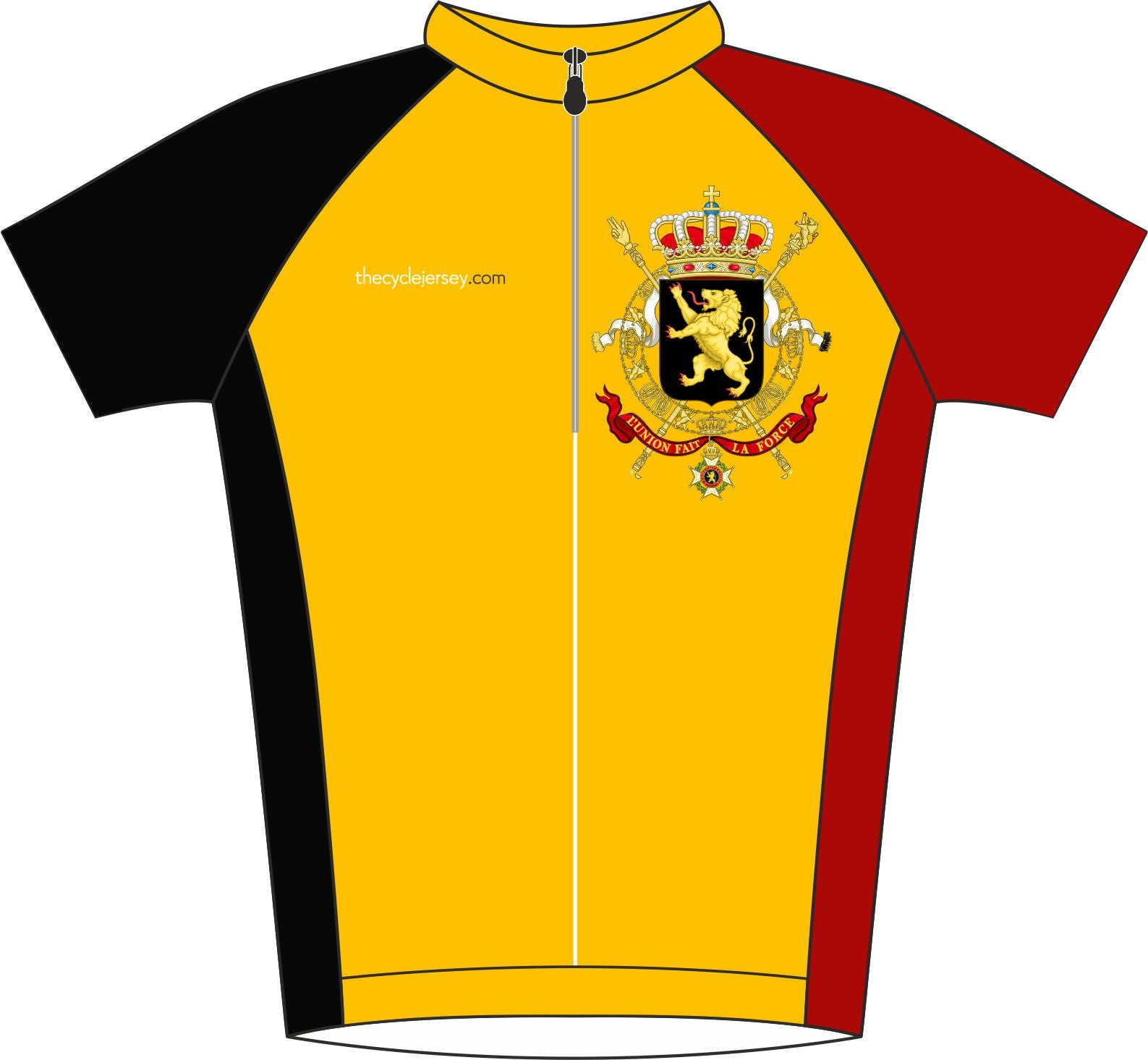 Belgium Road Cycle Jersey Front