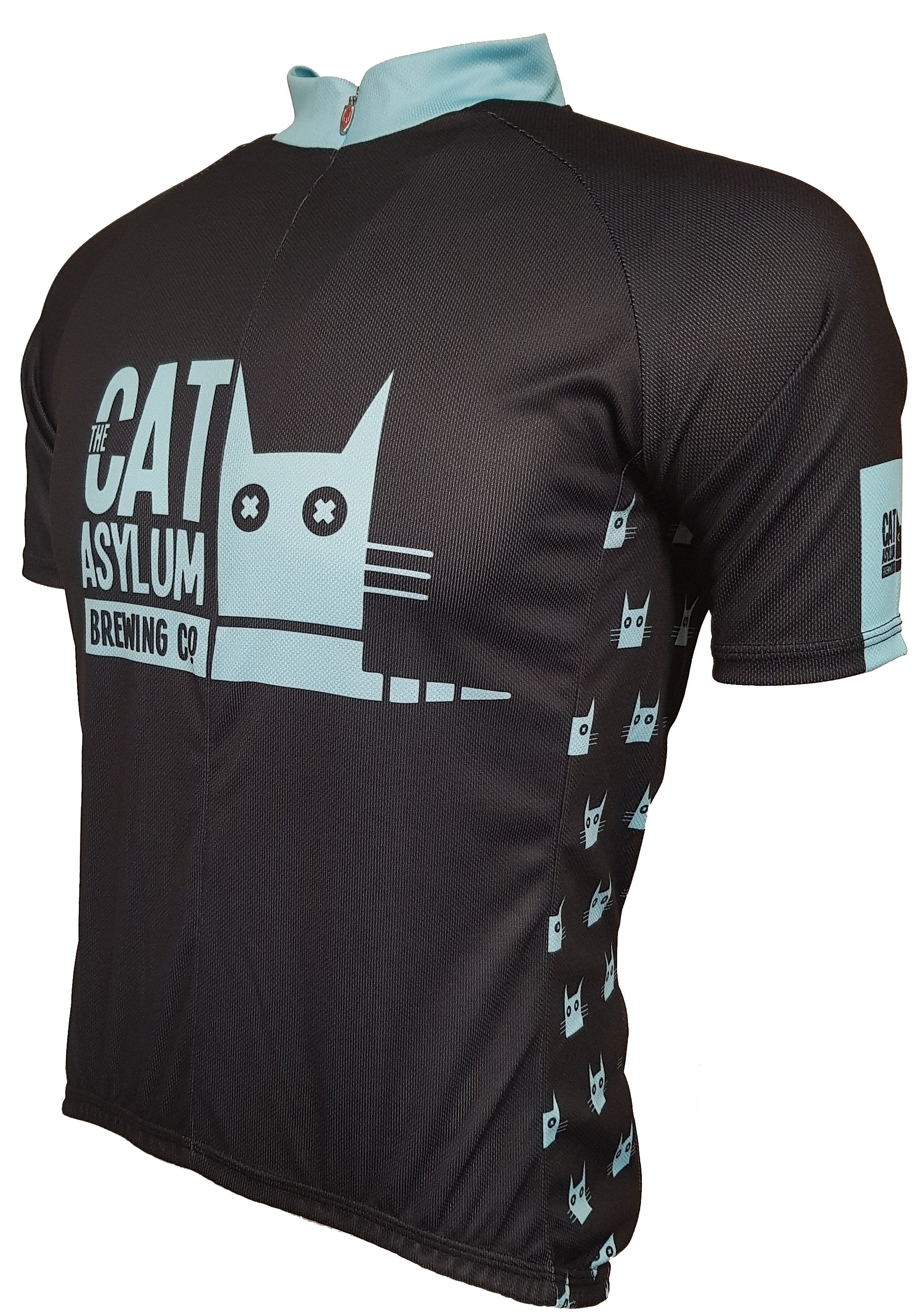 Cat Asylum Road Cycling Jersey Front