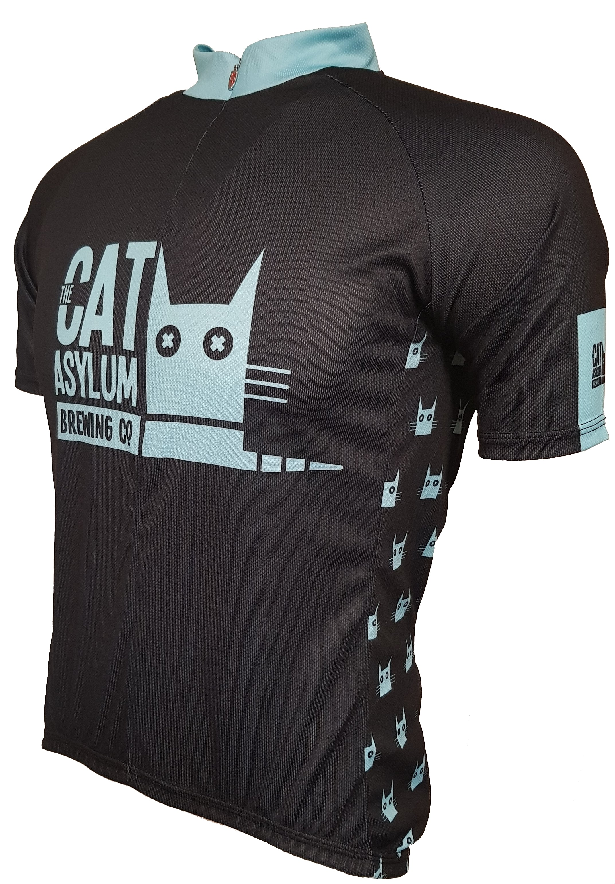 Cat Asylum Enduro Cycling Jersey Front