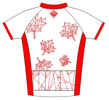 Canada Road Cycling Jersey Back