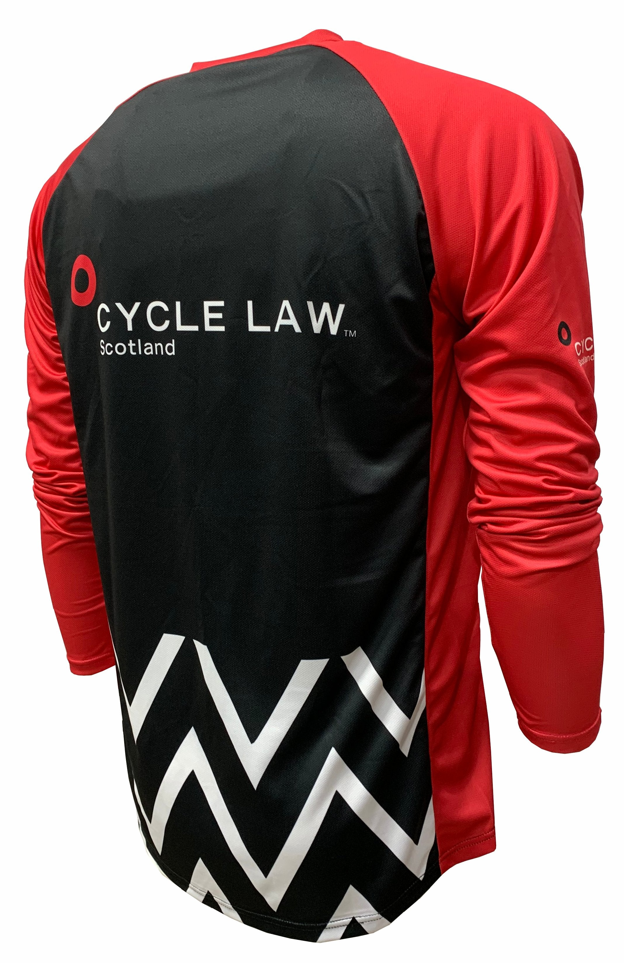 Cycle Law Scotland Enduro Cycling Jersey Back