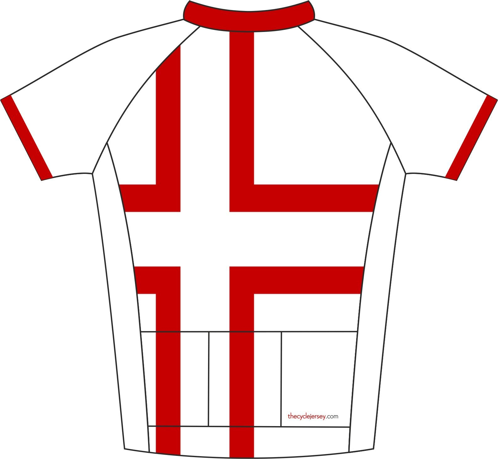 Denmark Kids Cycle Jersey Back