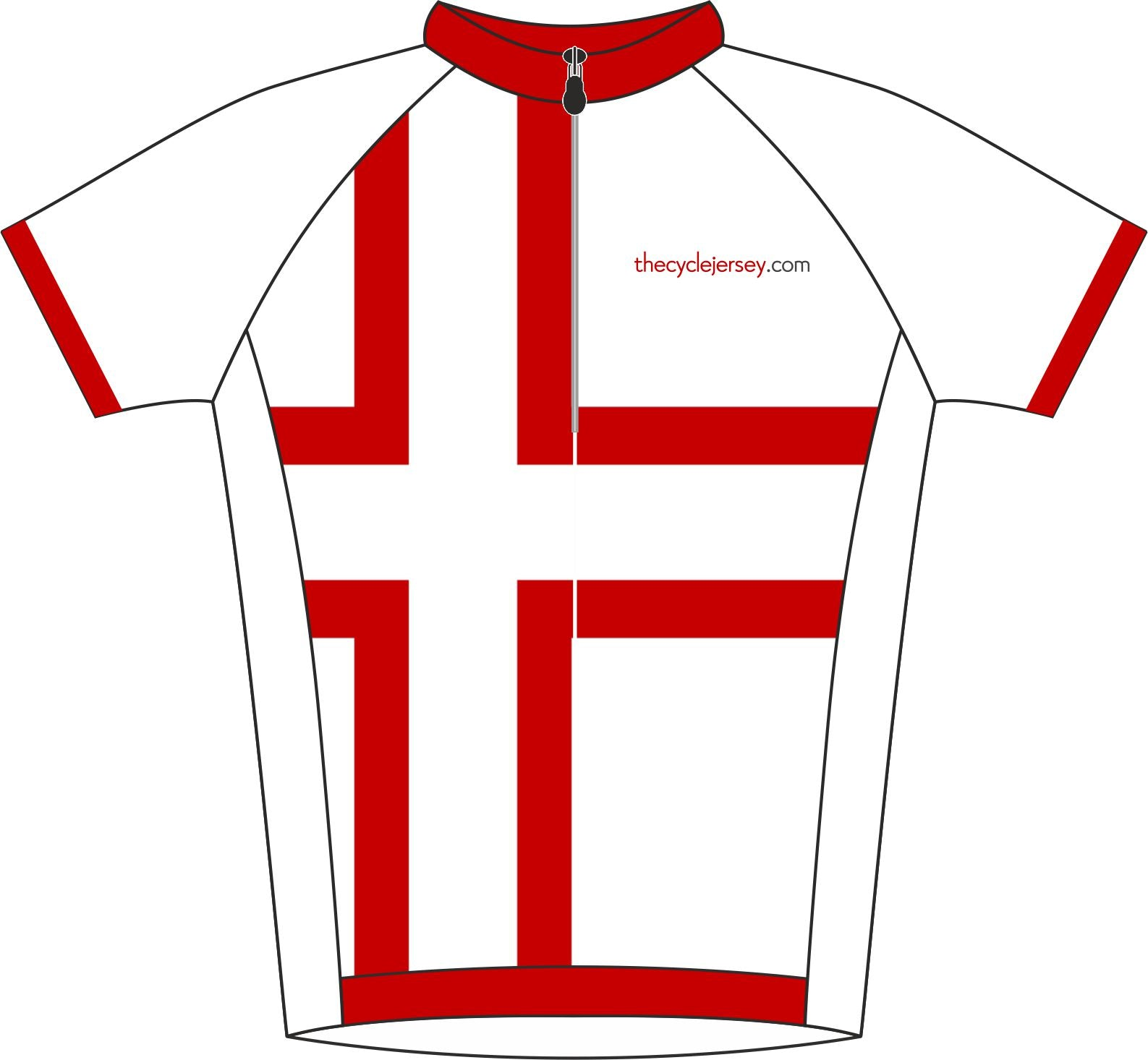 Denmark Kids Cycle Jersey Front