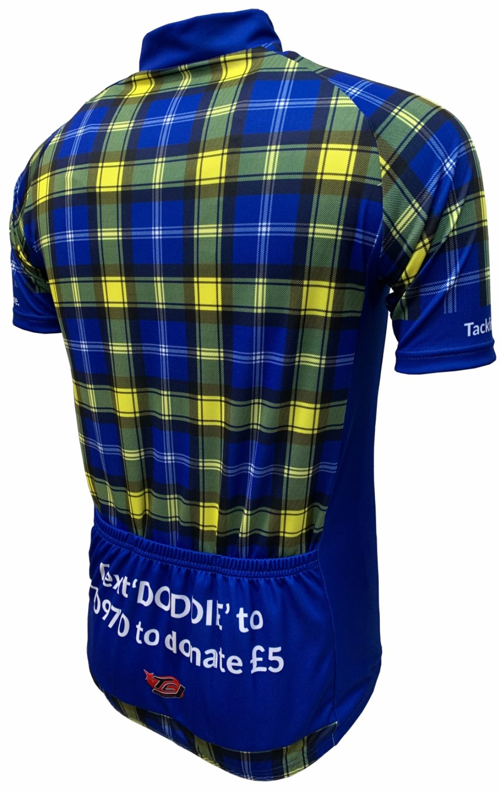 Doddie'5 Tartan Cycling Jersey Back