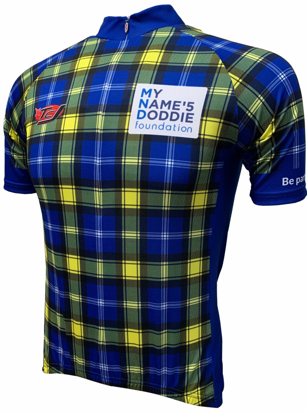 Doddie Tartan Road Cycling Jersey Front