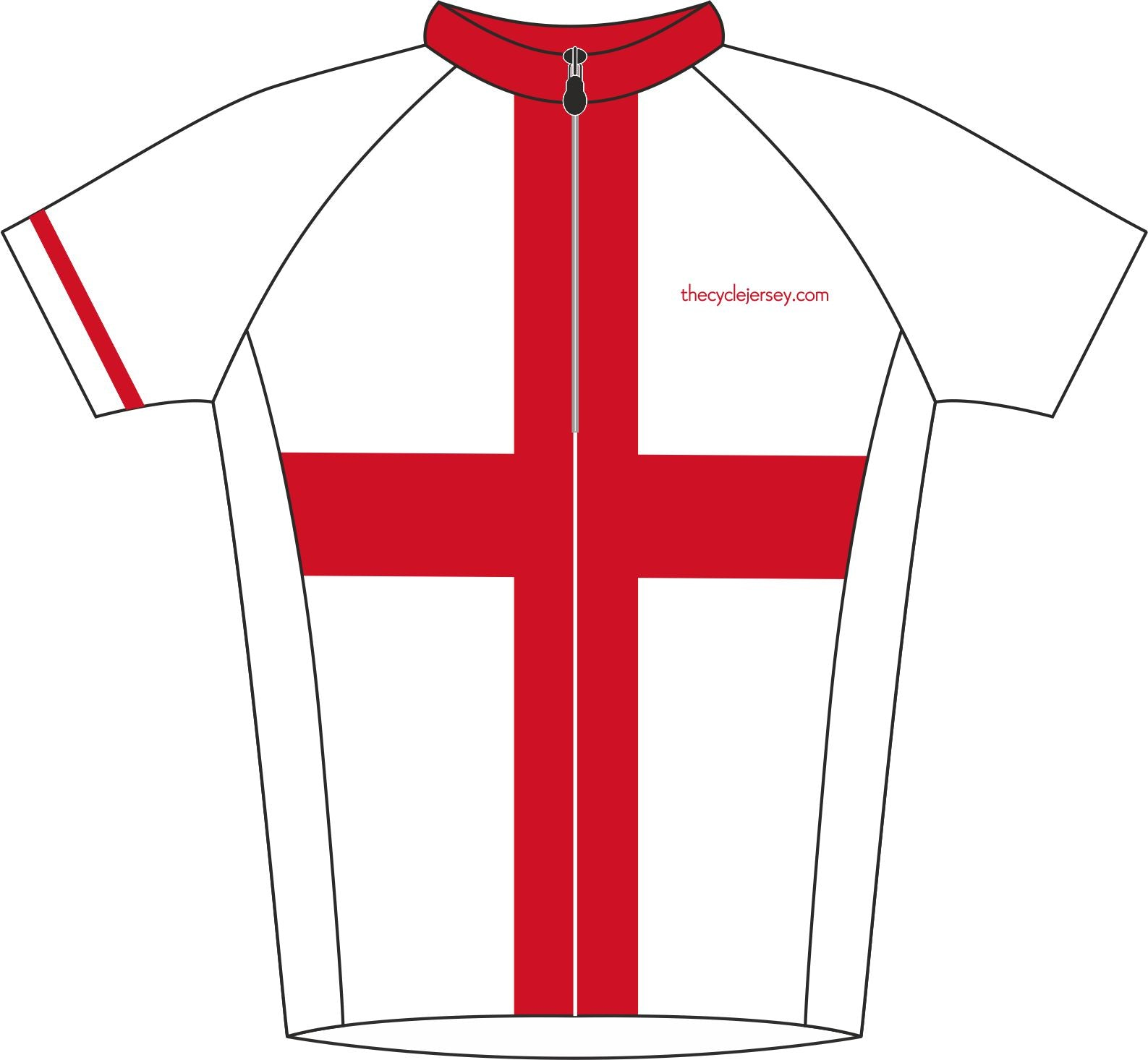England Road Cycle Jersey Front