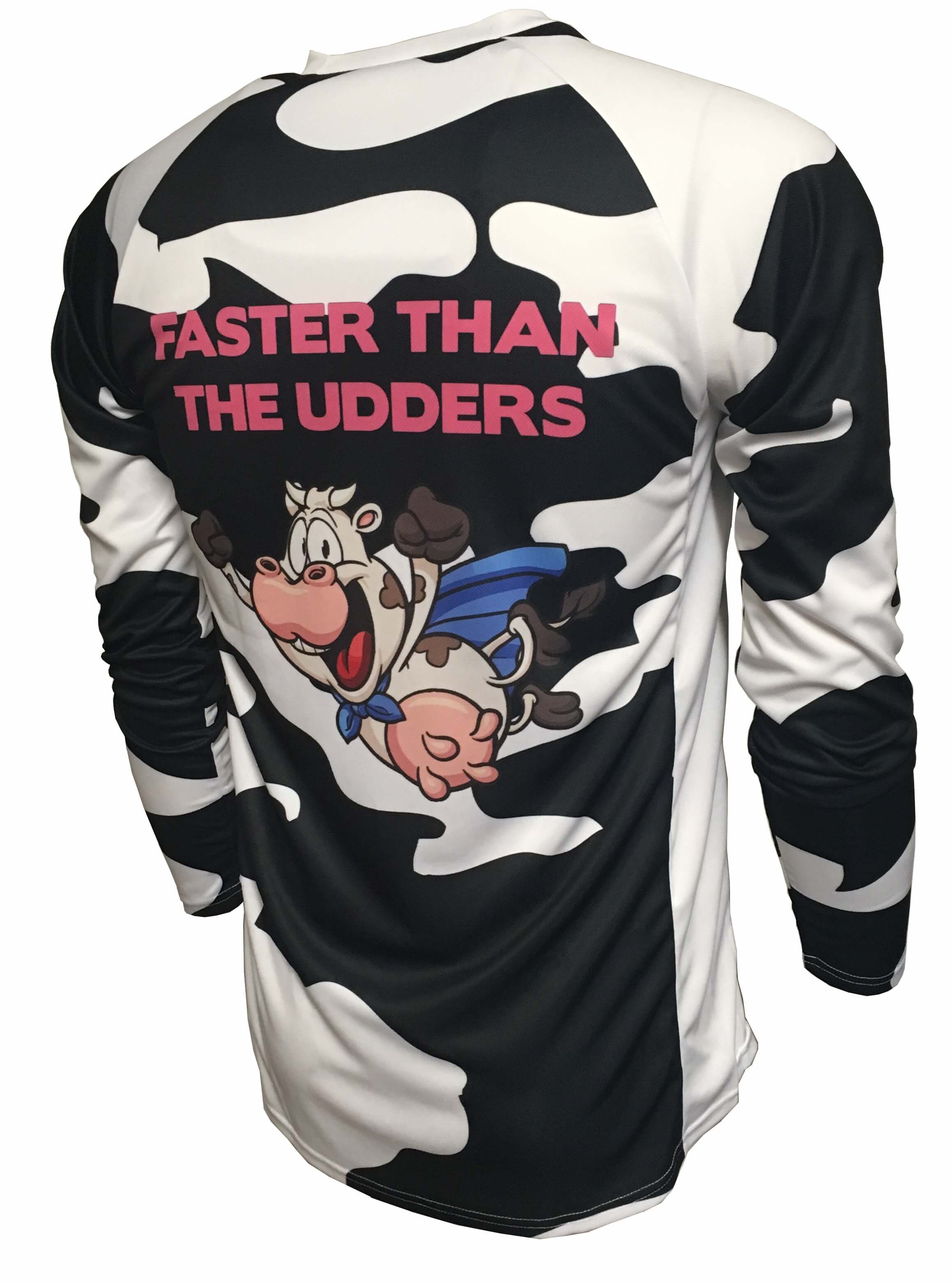 Faster Than The Udders Enduro Cycle Jersey Back