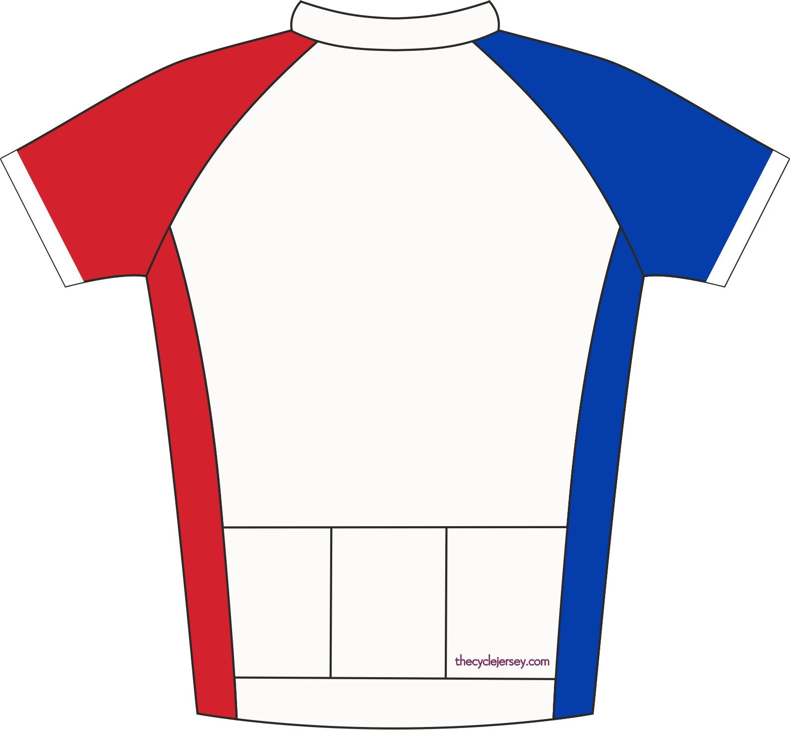 France Road Cycling Jersey Back