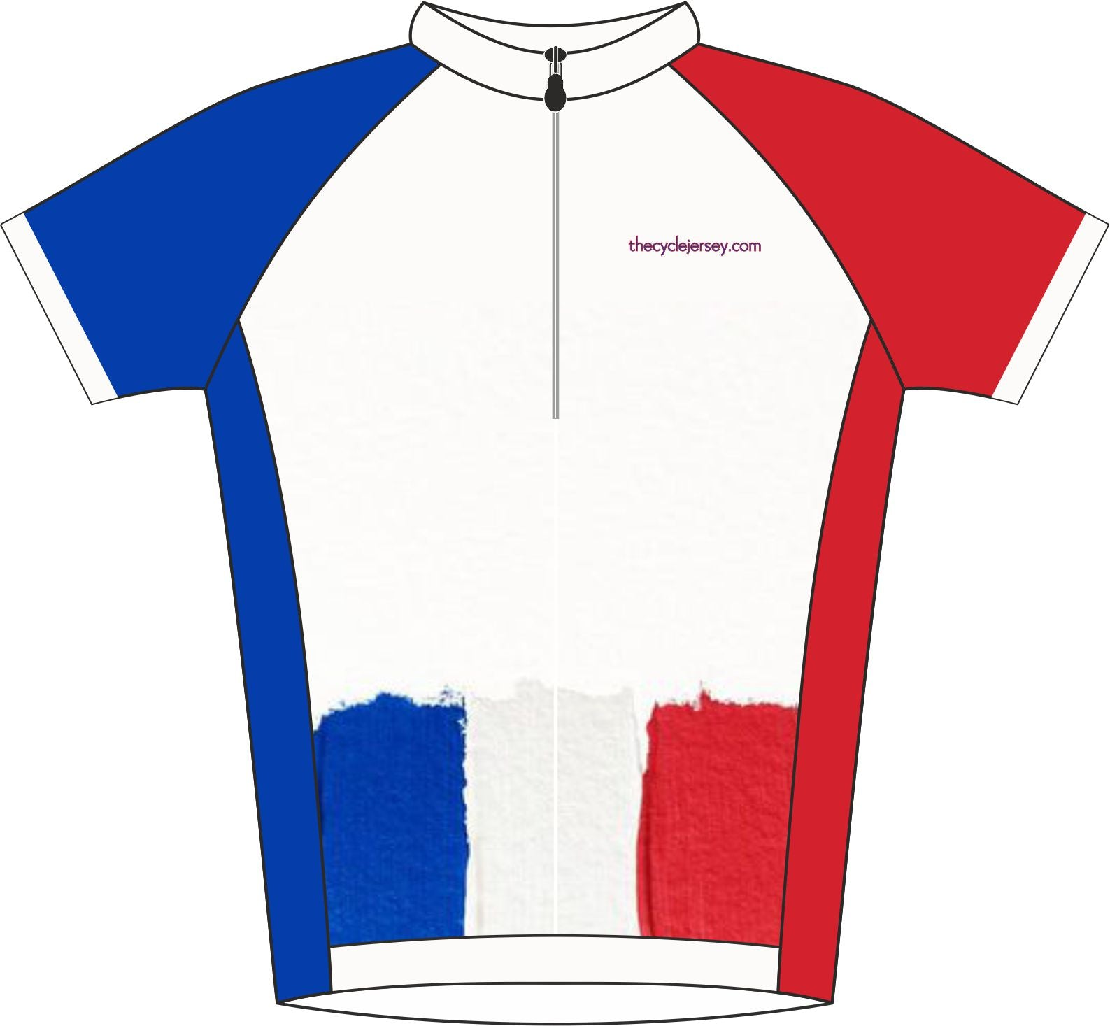 France Road Cycling Jersey Front