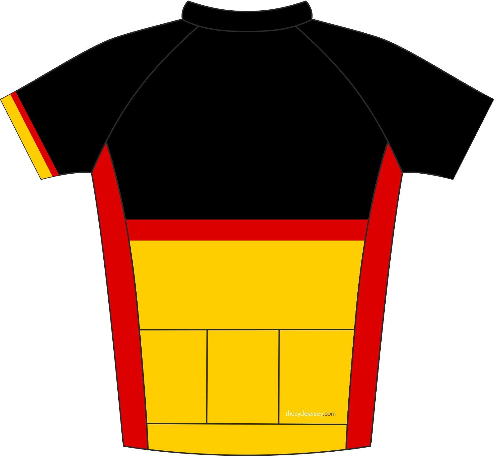 Germany Road Jersey Back