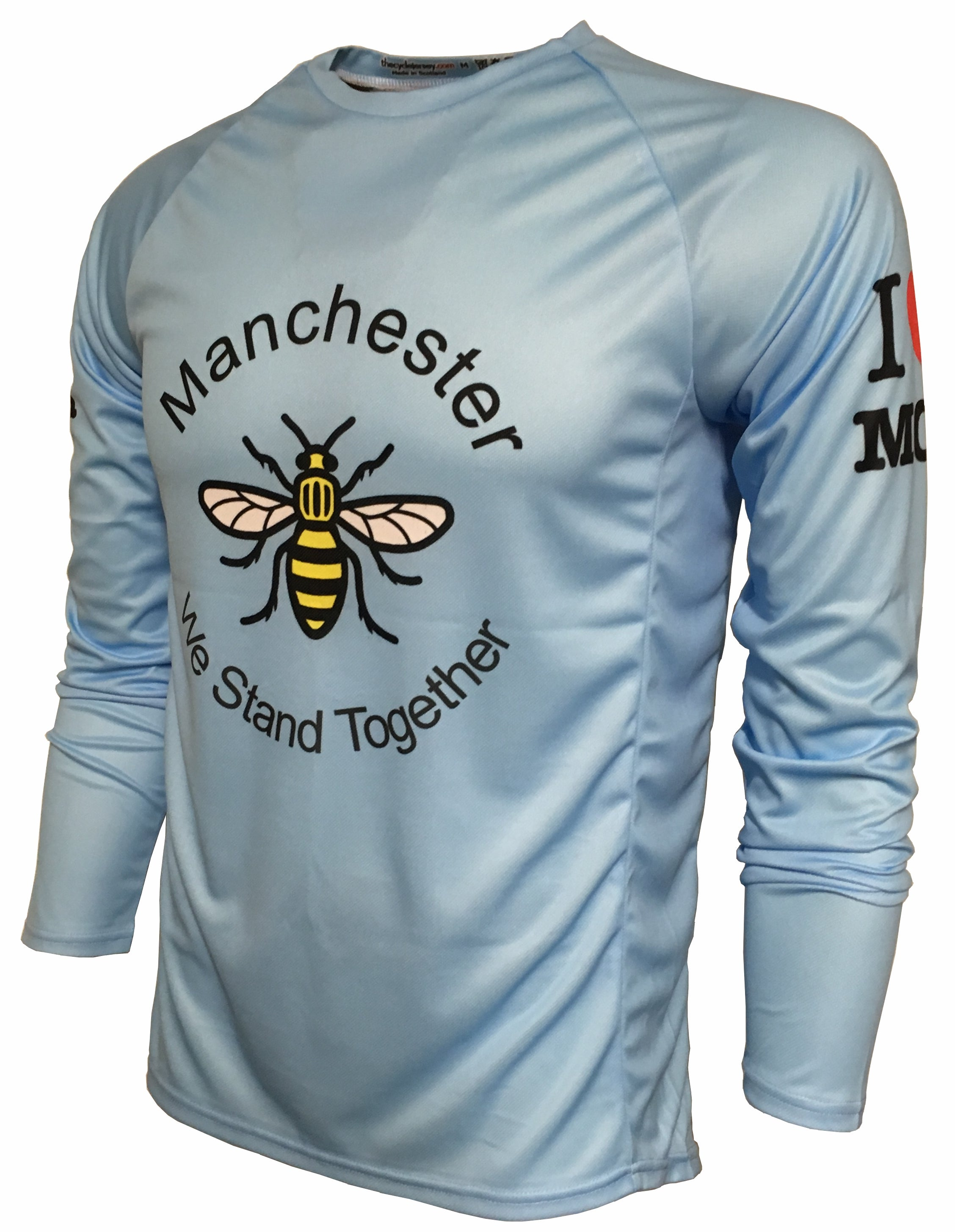 I Love Manchester Enduro Jersey Front
