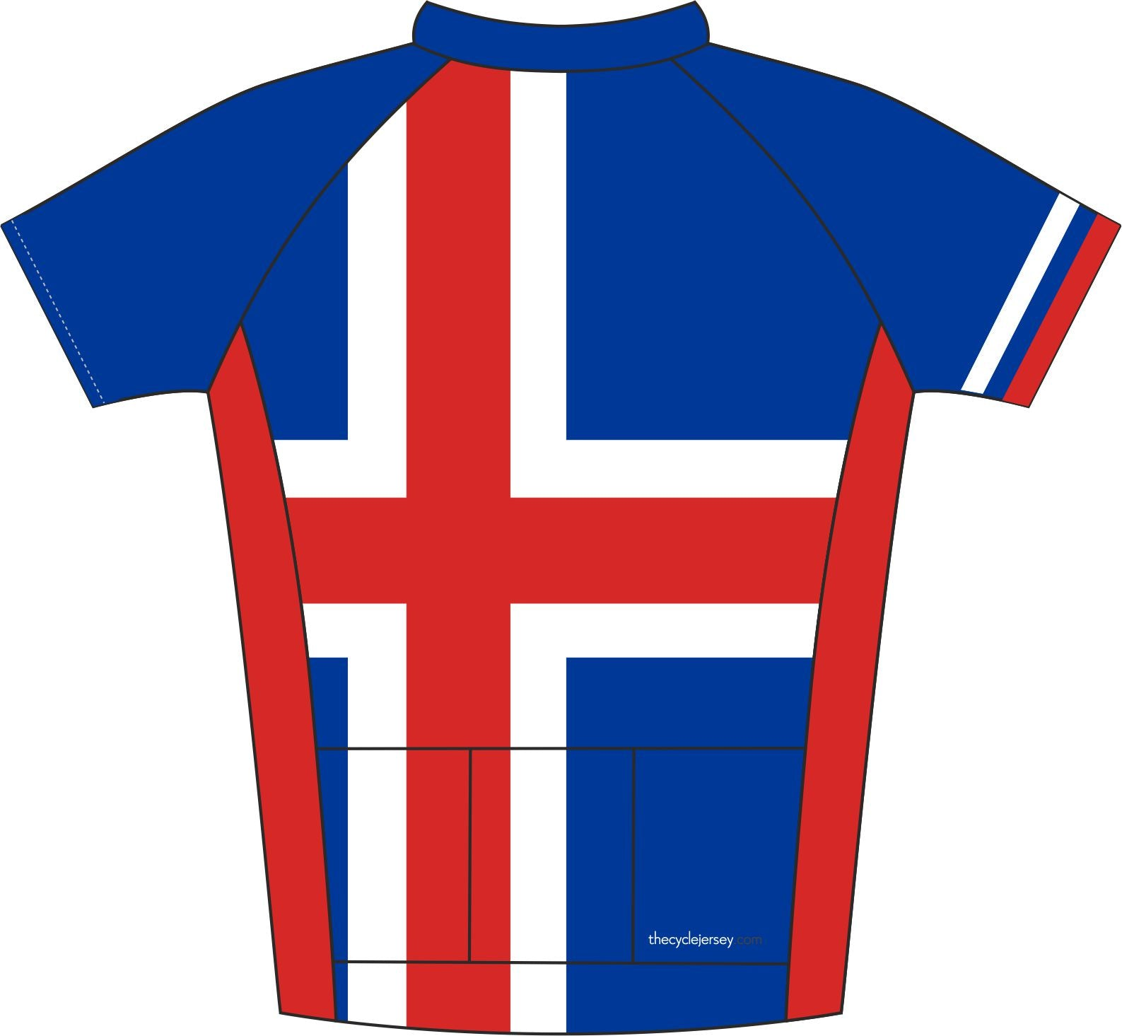 Iceland Road Cycle Jersey Back