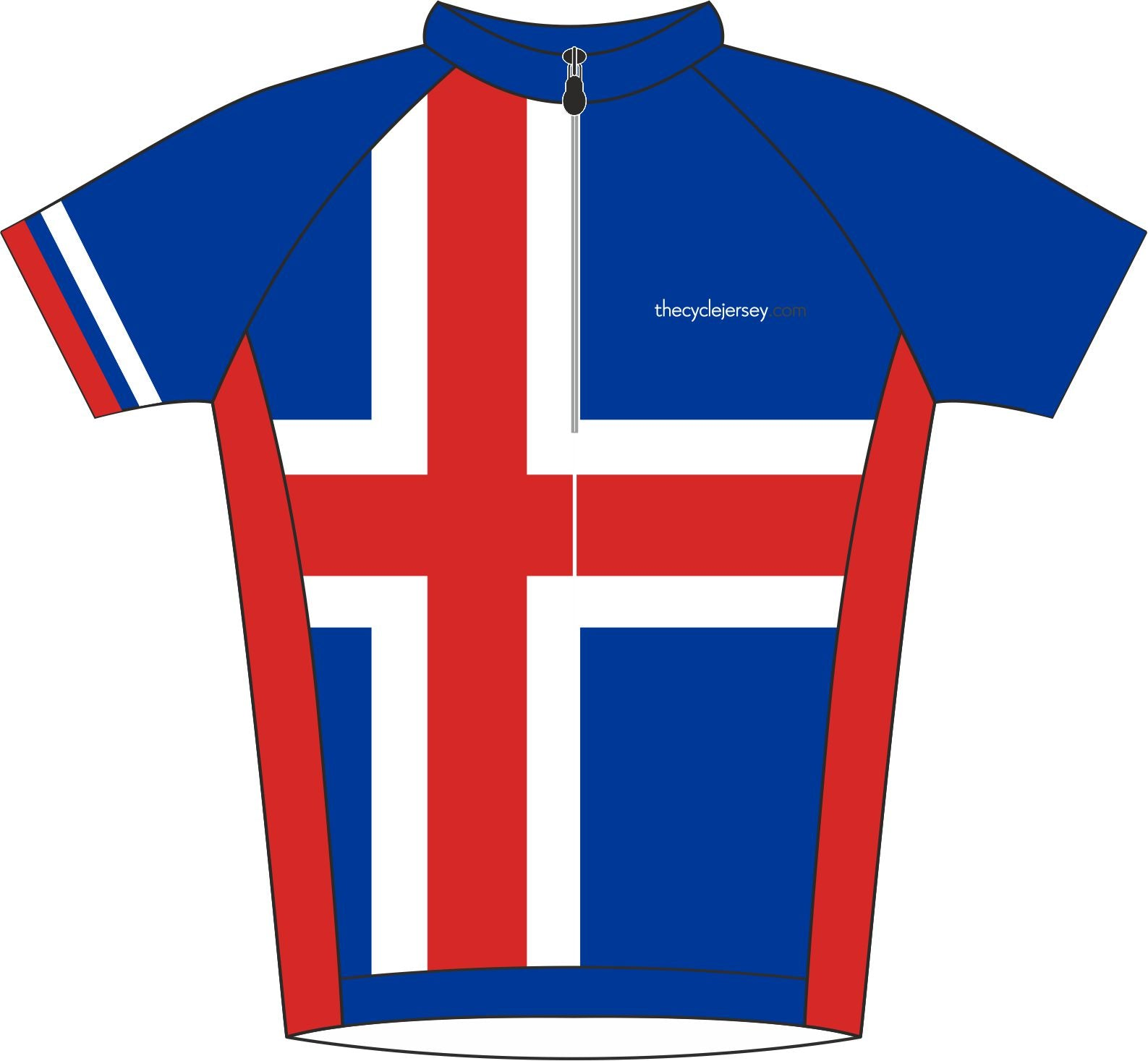 Iceland Road Cycle Jersey Front
