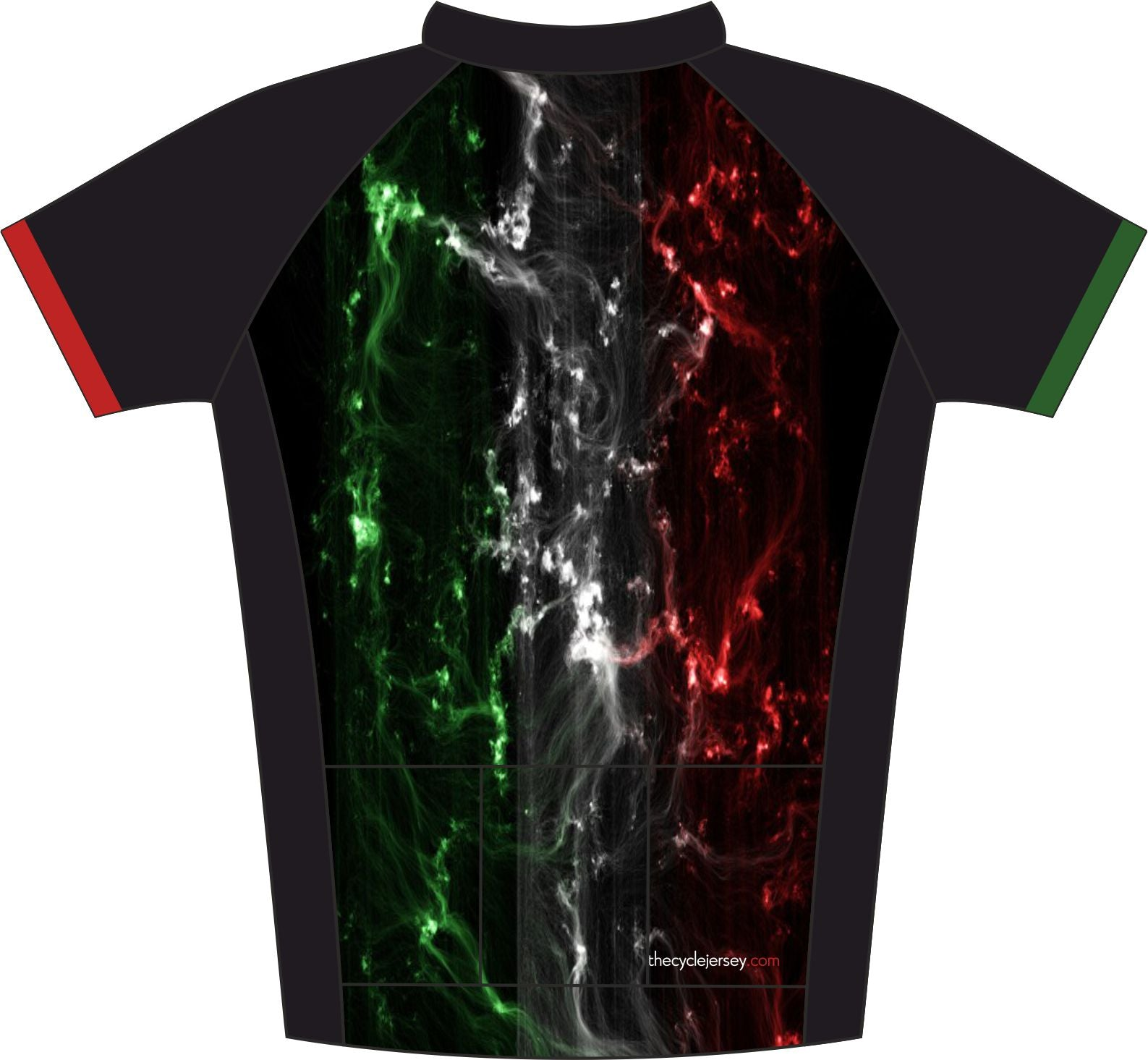 Italy Enduro Cycling Jersey Back