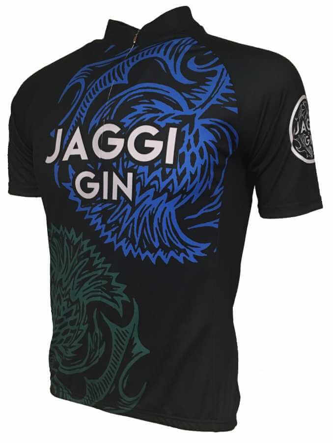 Jaggi Gin Blue Road Cycling Jersey Front