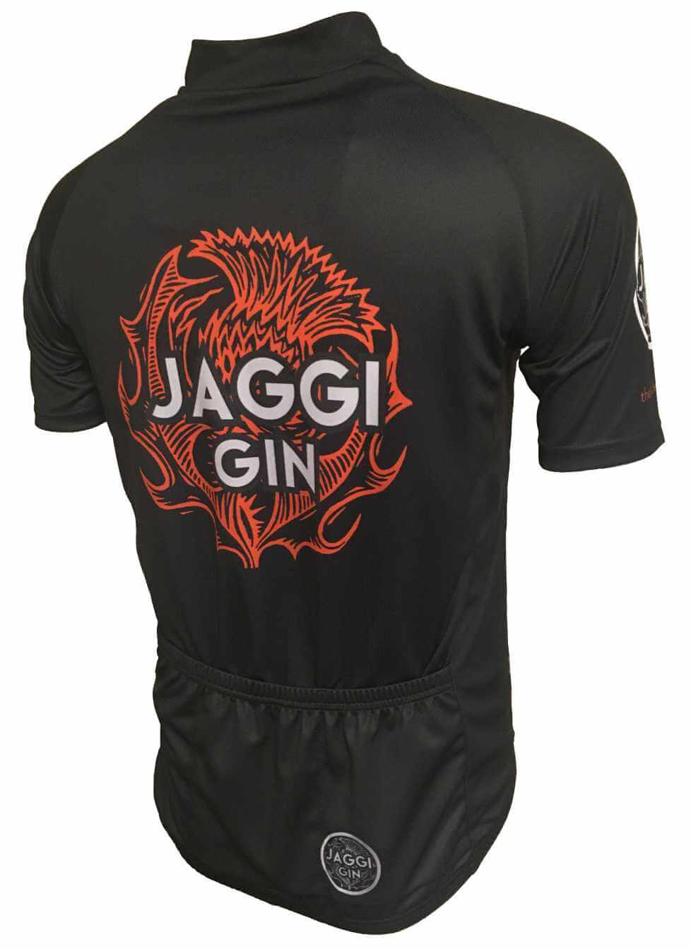 Jaggi Gin Orange Road Cycling Jersey Back