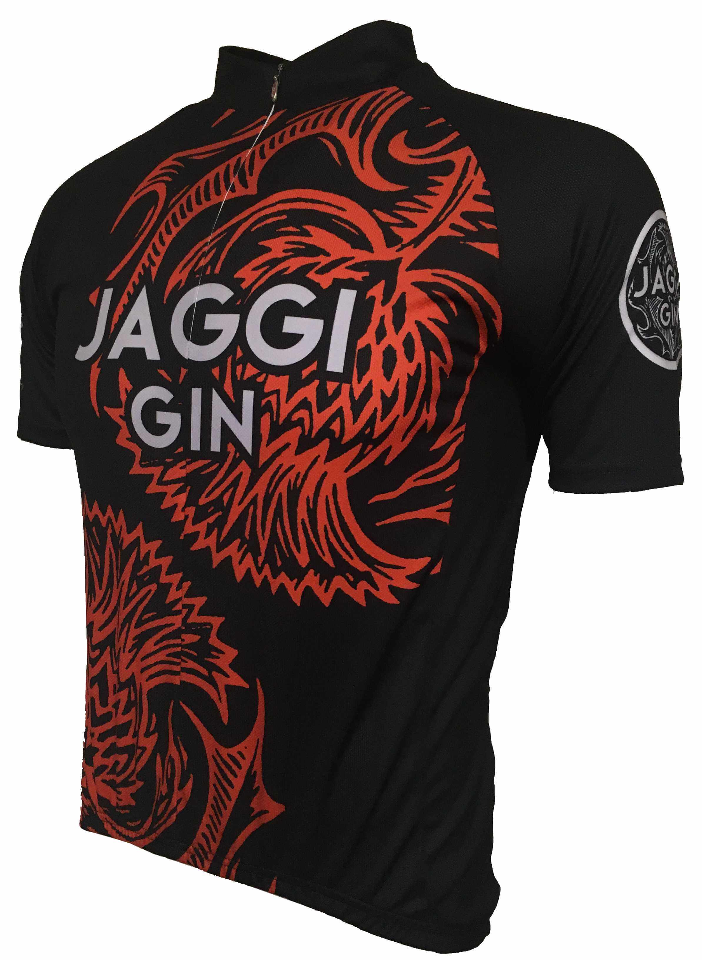 Jaggi Gin Orange Road Cycling Jersey Front