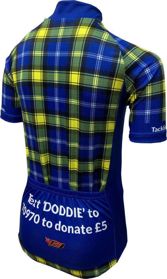 Doddie'5 Tartan Kids Cycling Jersey Back