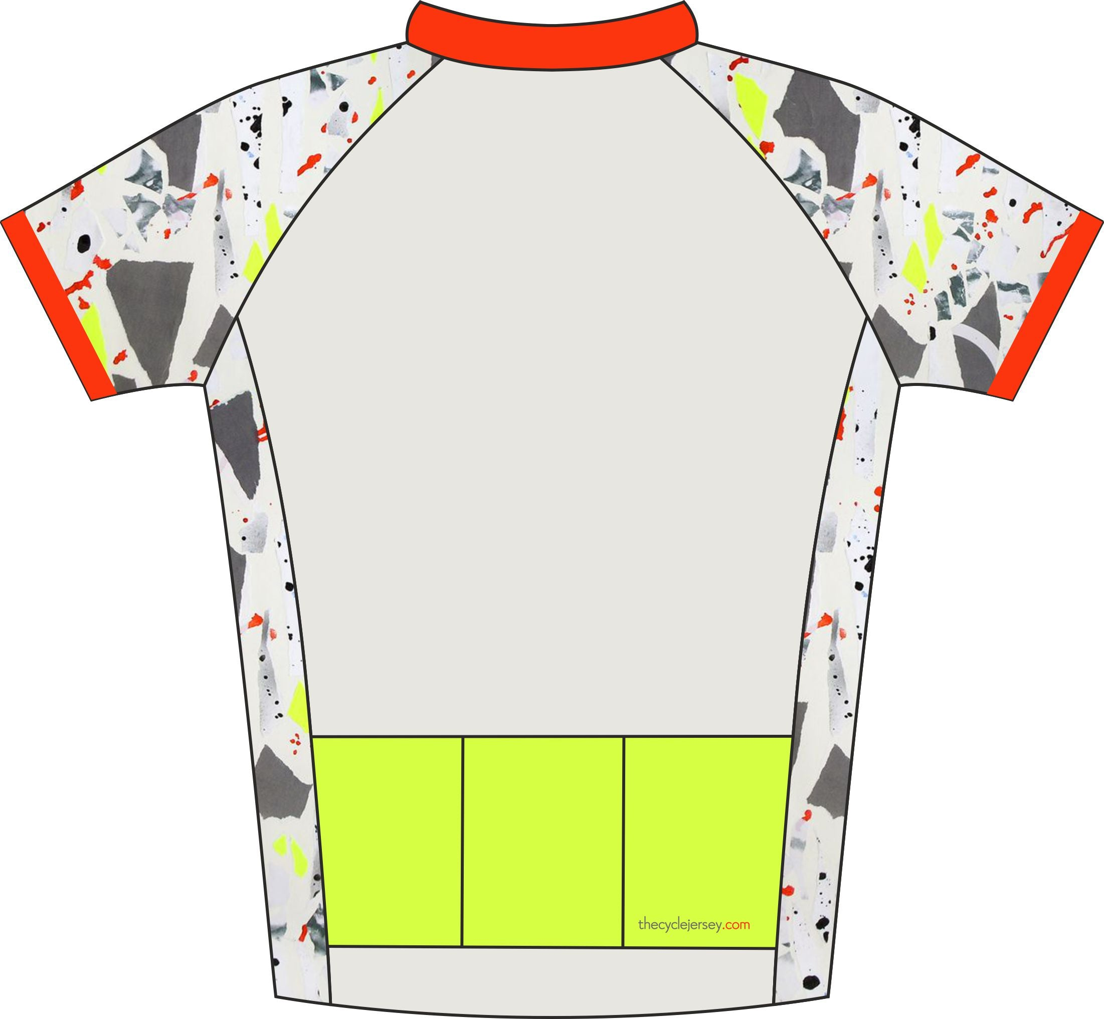 Kids Camo Design Cycle Jersey Back