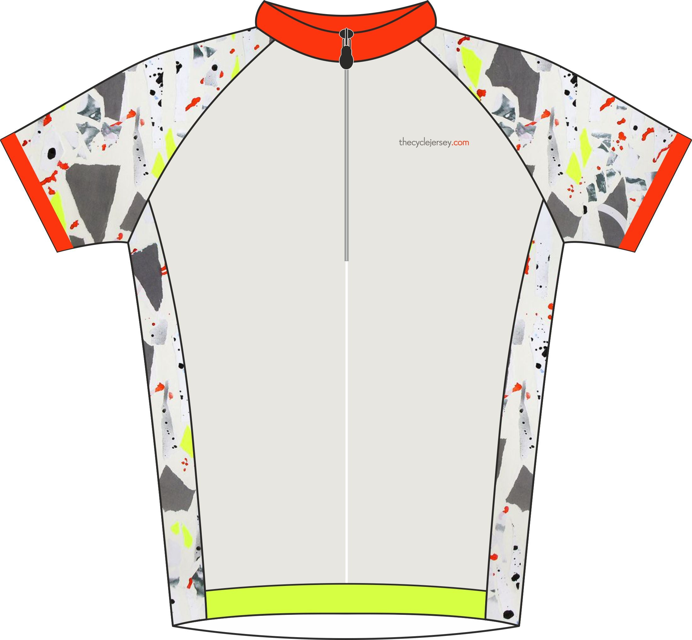 Kids Camo Design Cycle Jersey Front