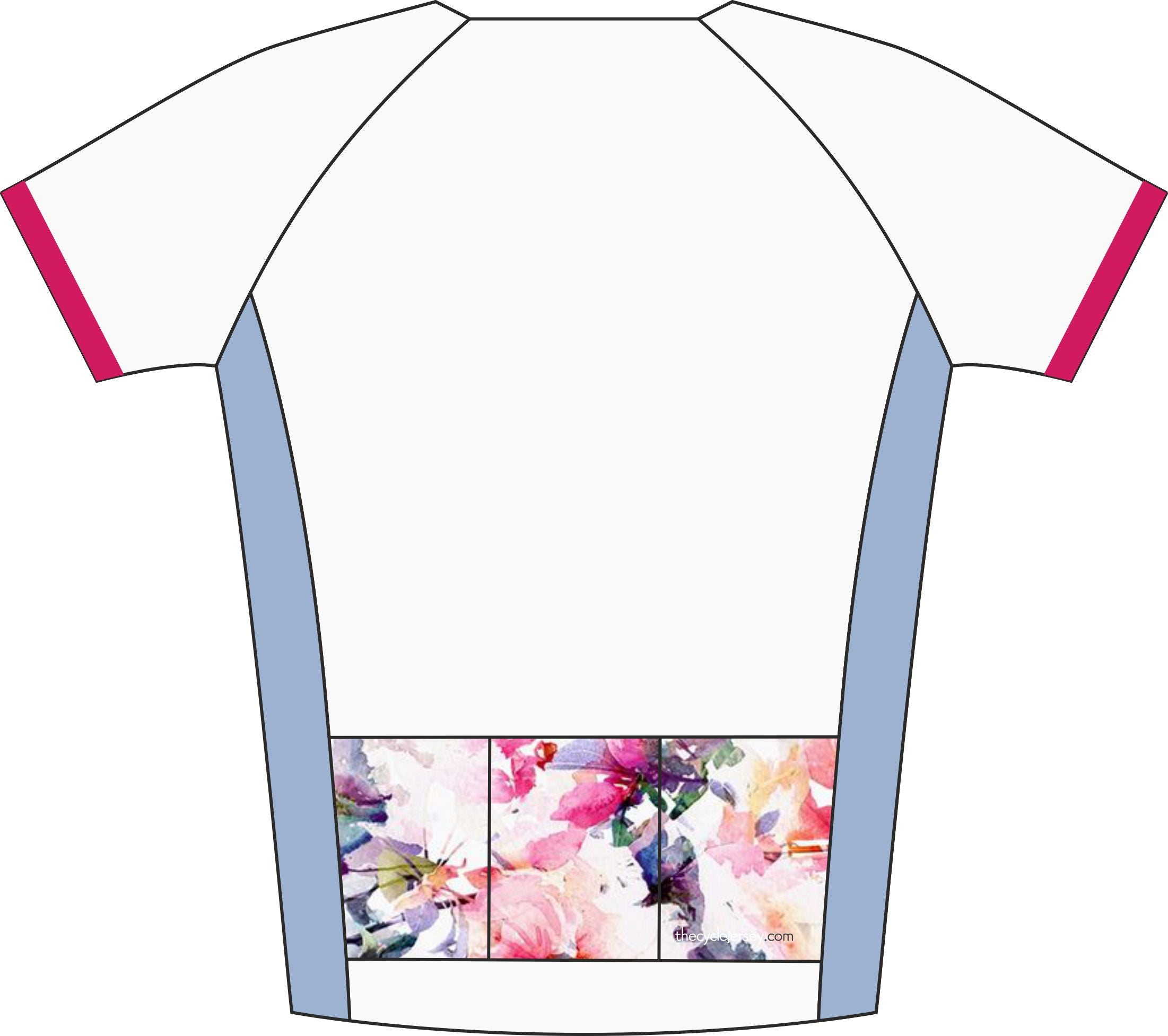 Floral Design Enduro Cycle Jersey Back