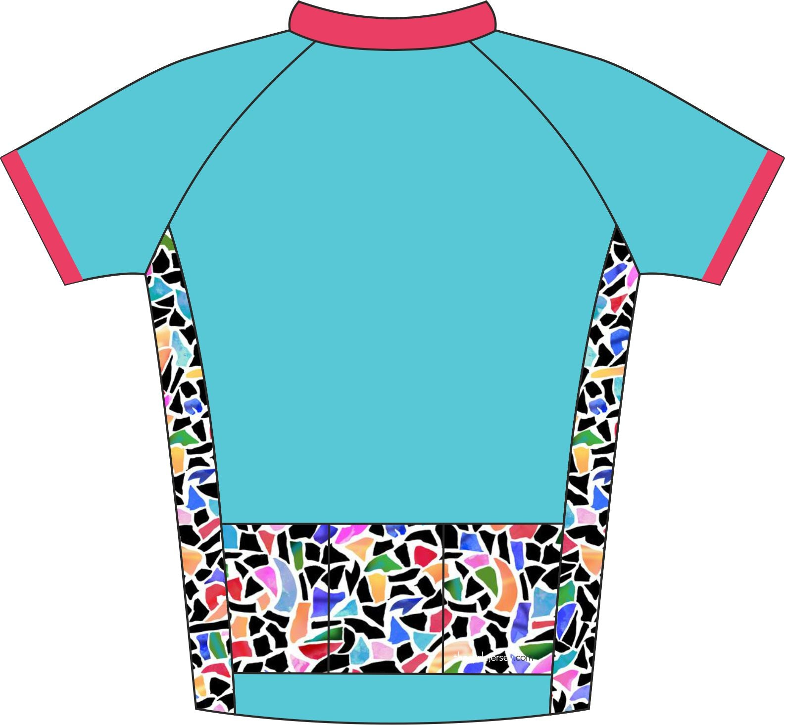 Mosaic Road Cycling  Jersey Back
