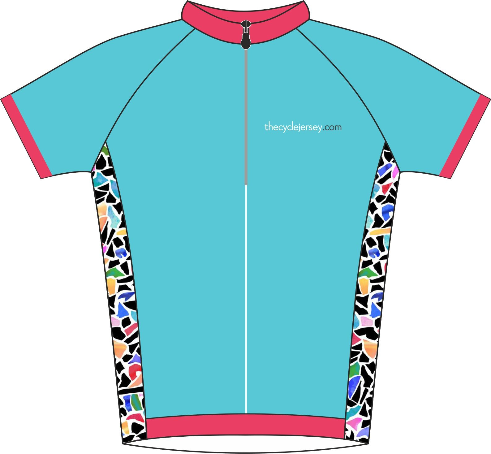 Mosaic Road Cycling Jersey Front