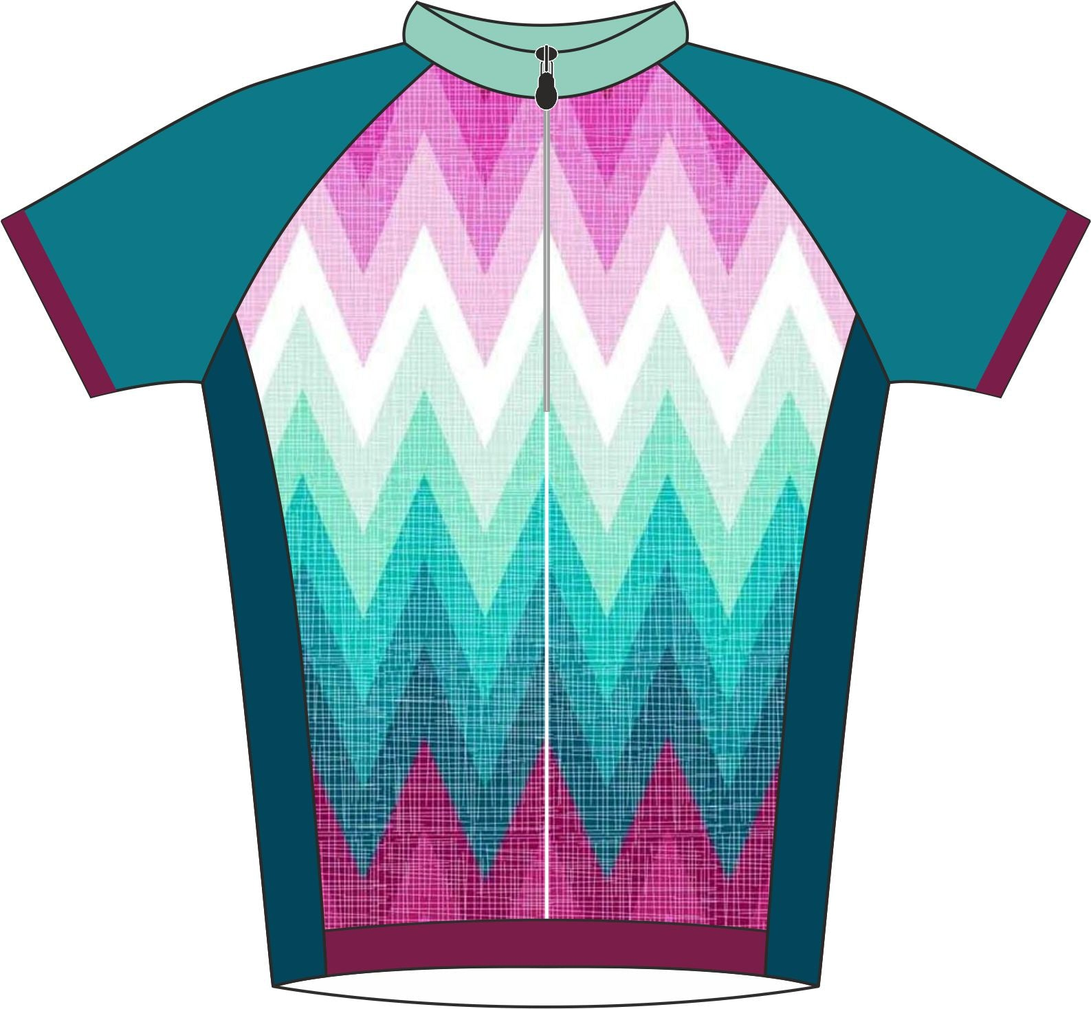 Fade Design Cycle Jersey Front