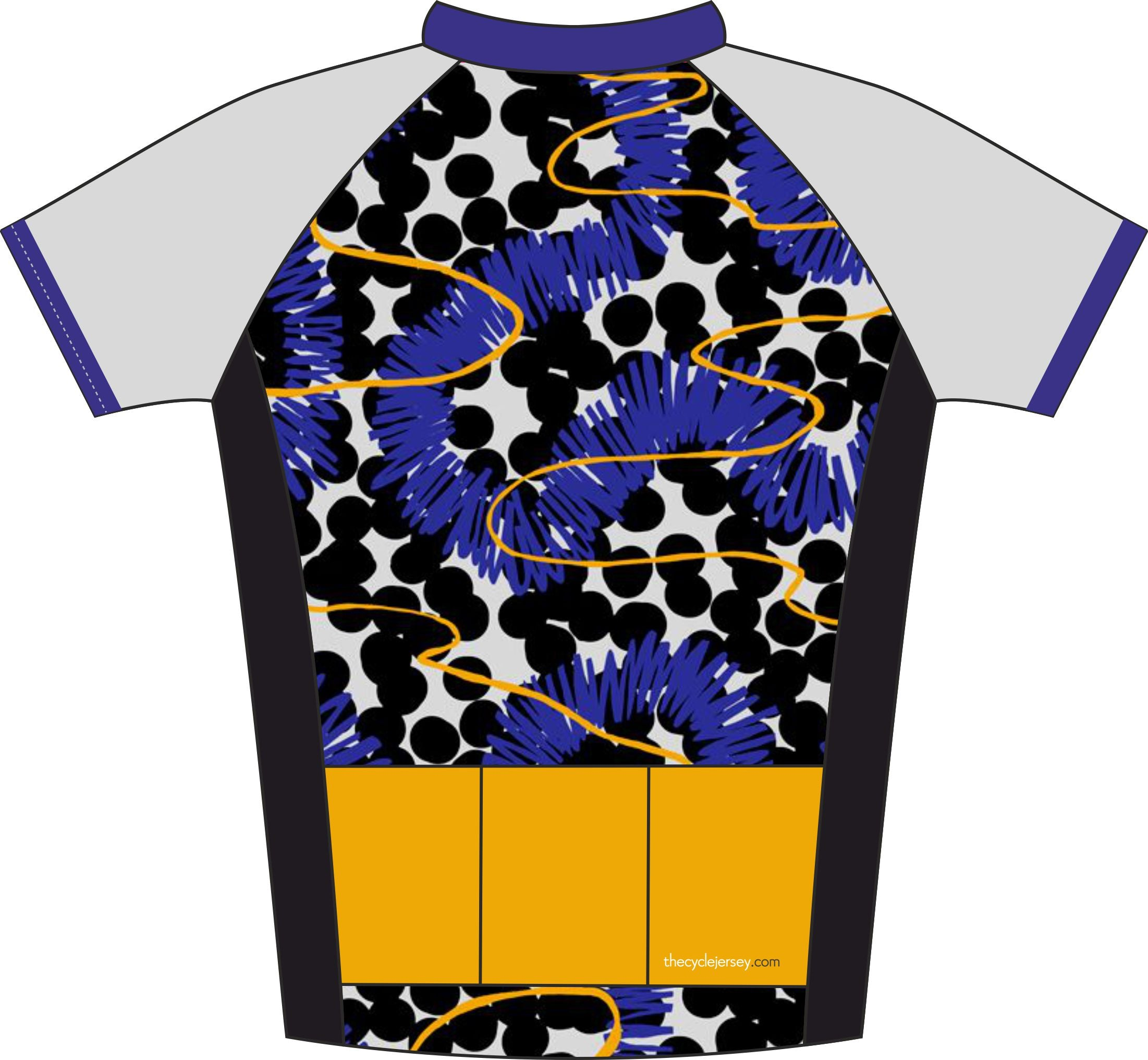 Spot Effect Enduro Cycling Jersey Back