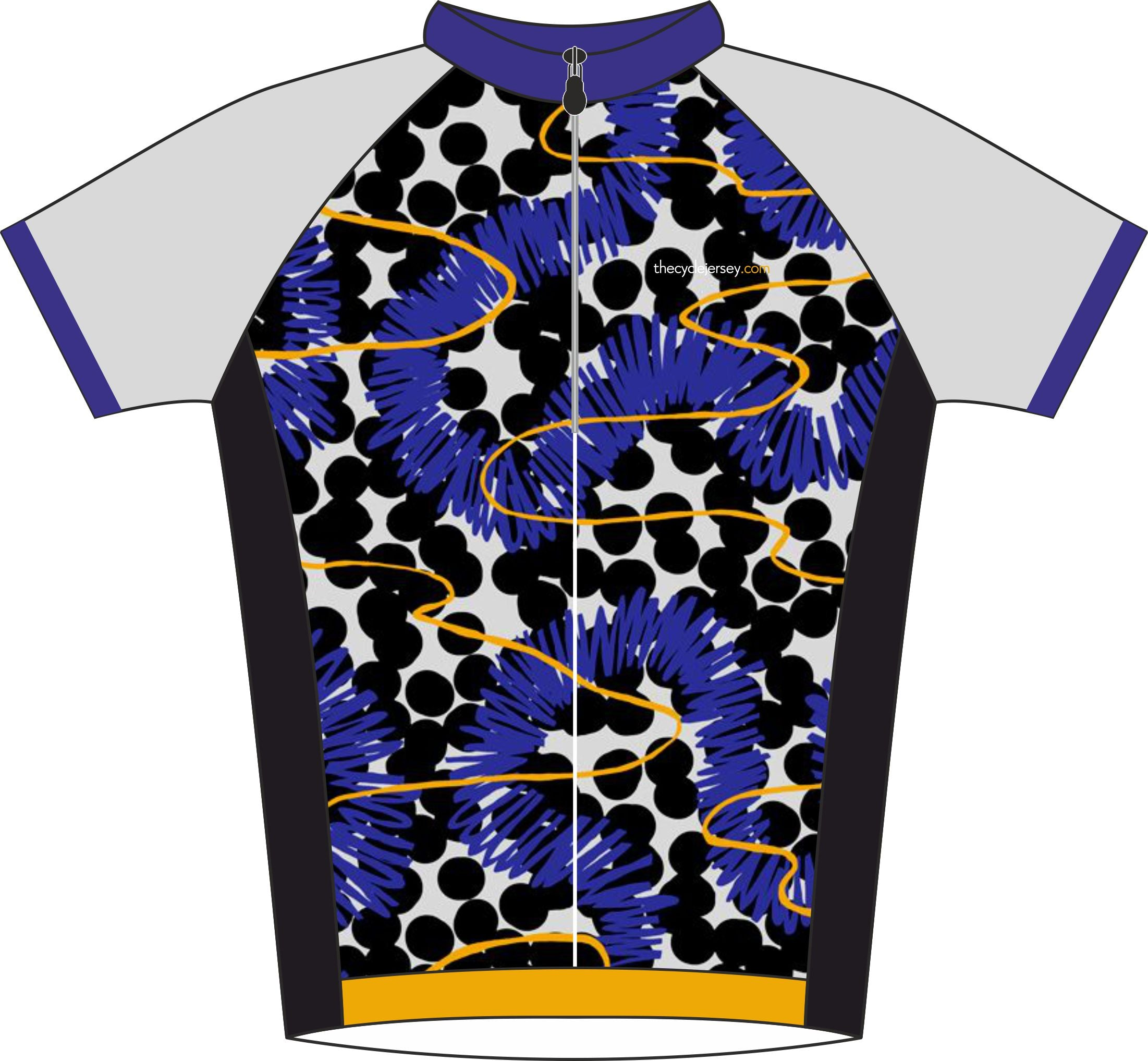 Spot Effect Road Cycling Jersey Front