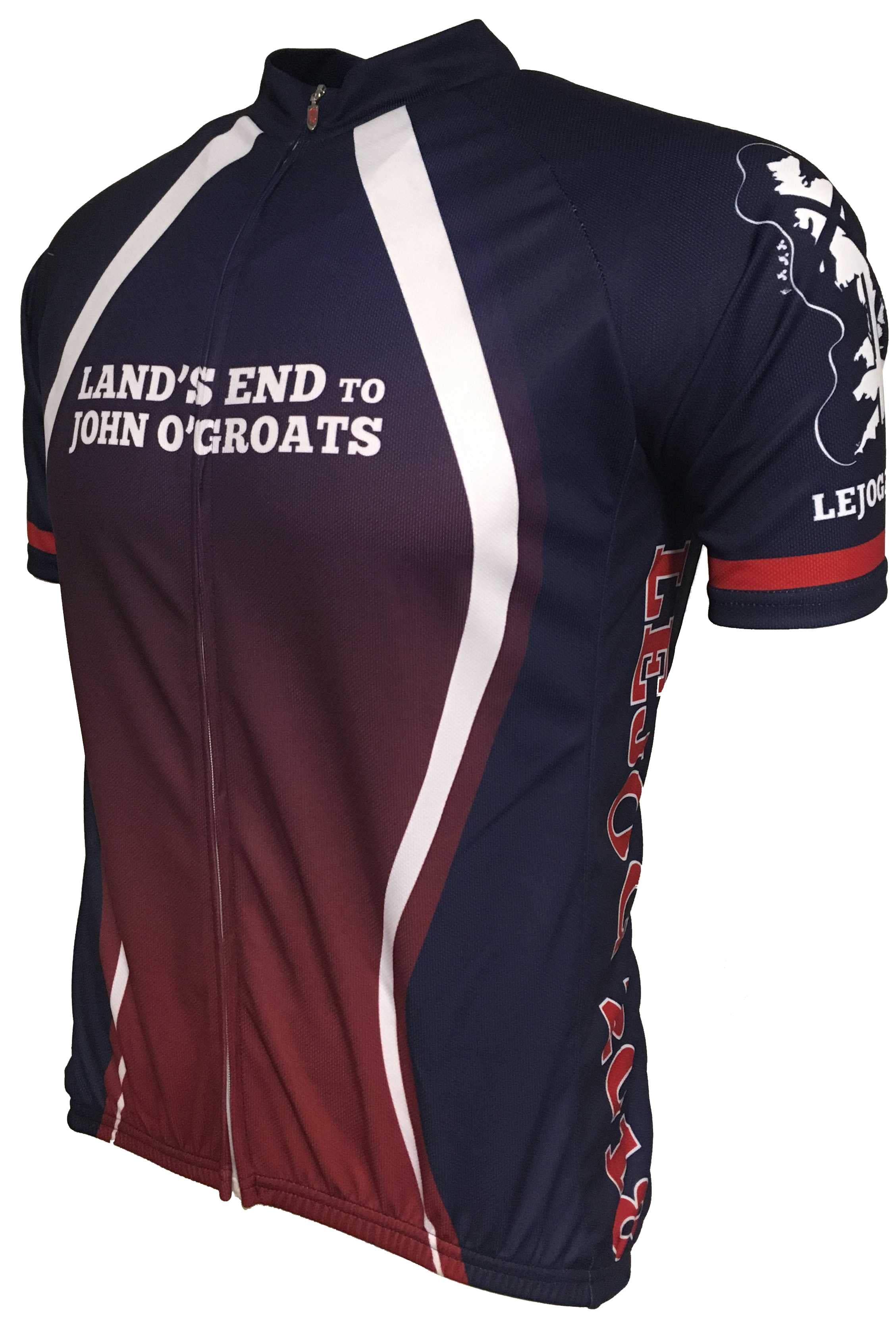 LEJOG Road Cycling Jersey Front