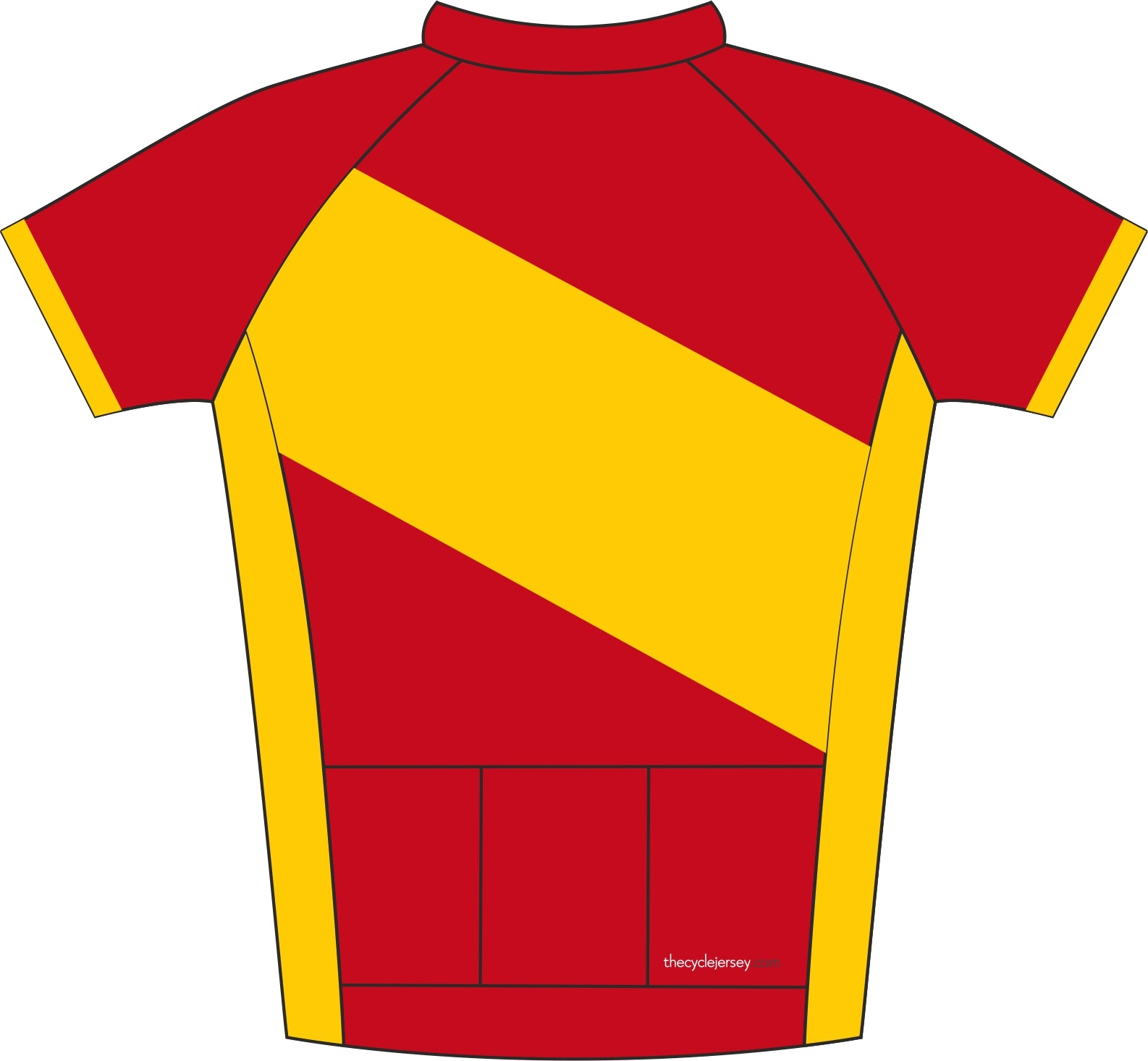 La Vuelta Espana Road Cycling Jersey Back