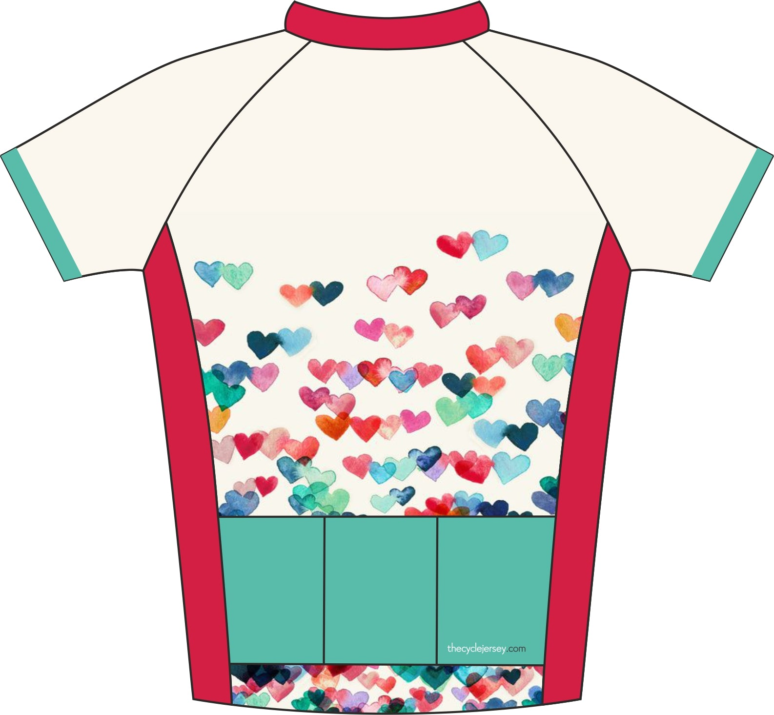 Love Heart Kids Jersey Back