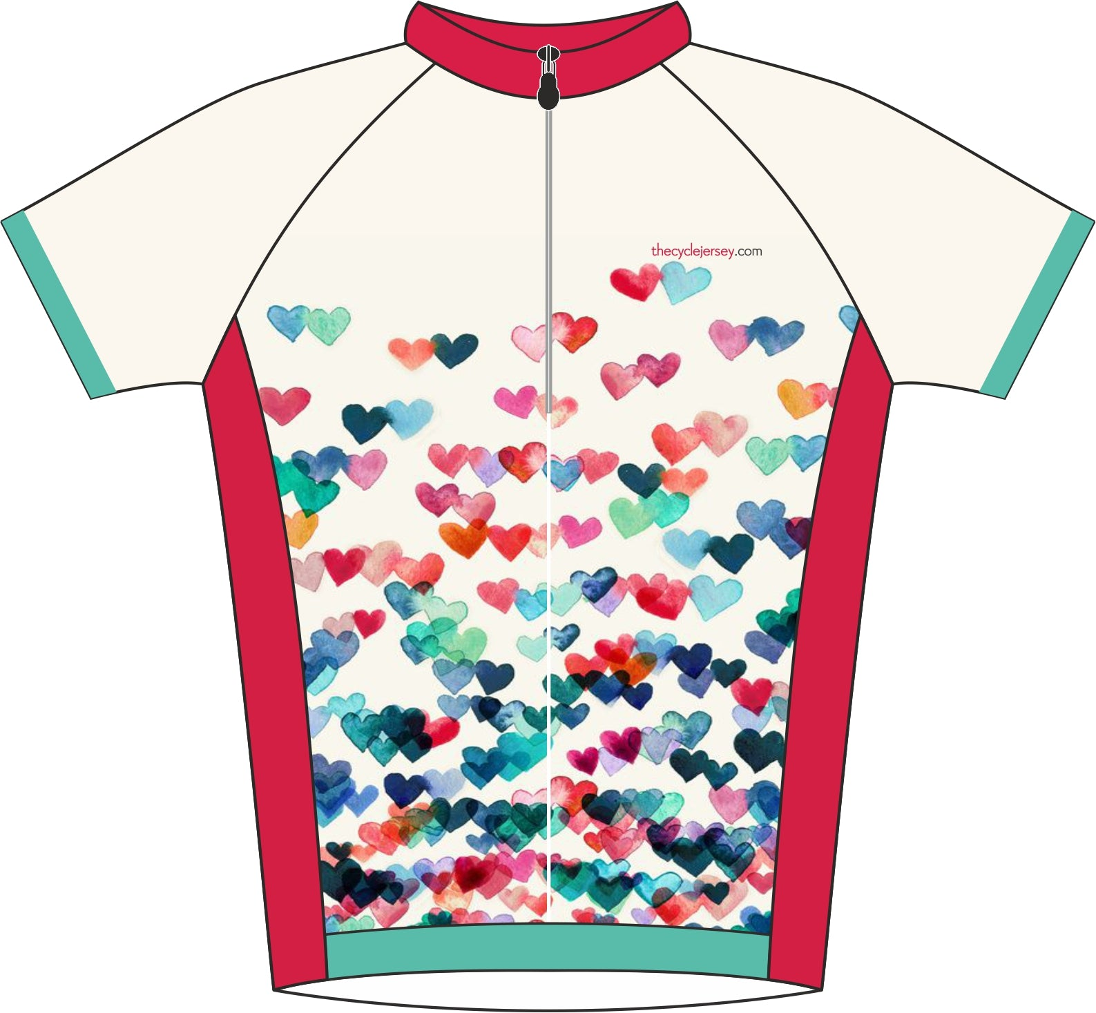 Love Heart Kids Jersey Front