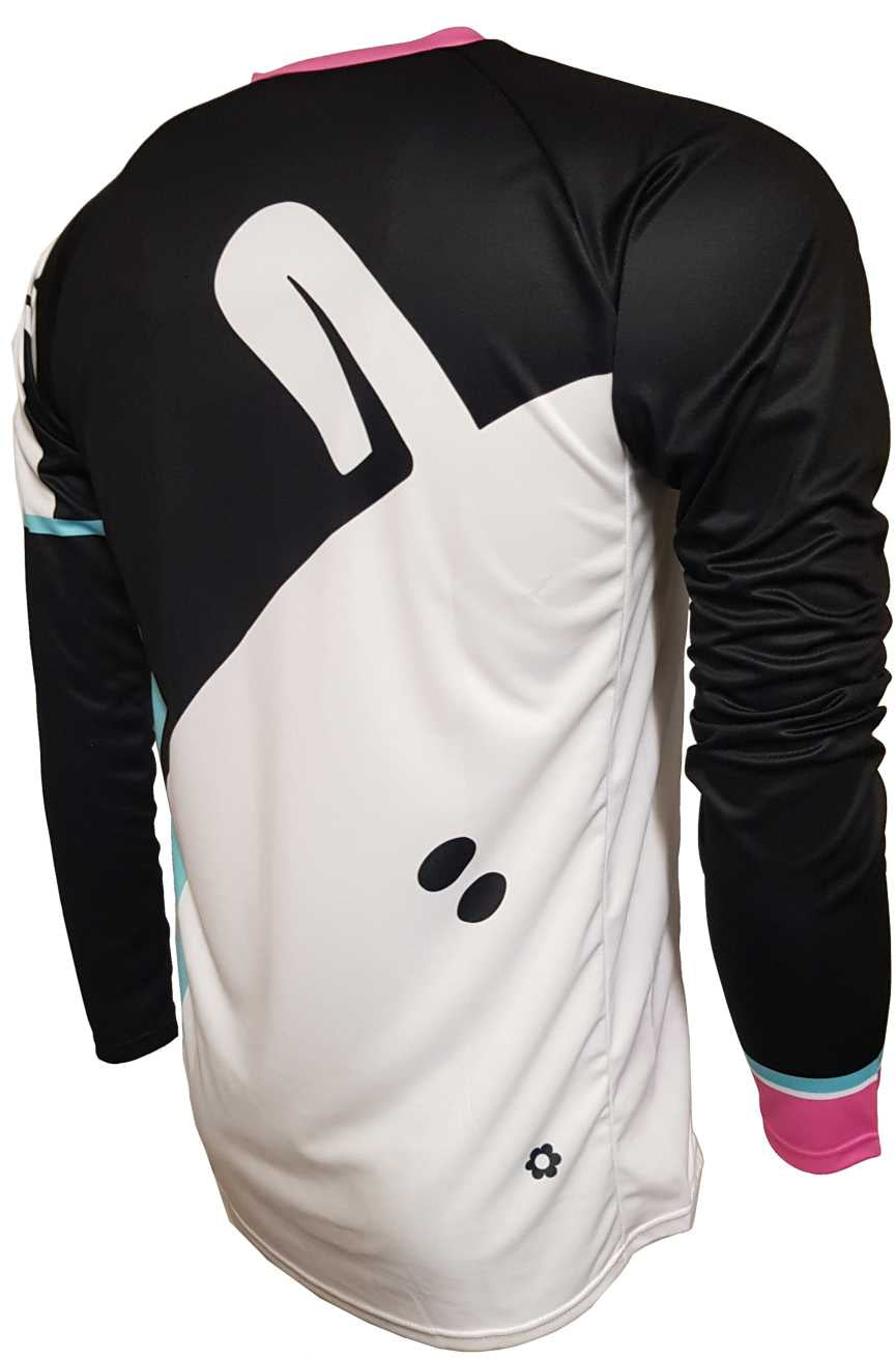 Mint Sauce Black Enduro Jersey Back