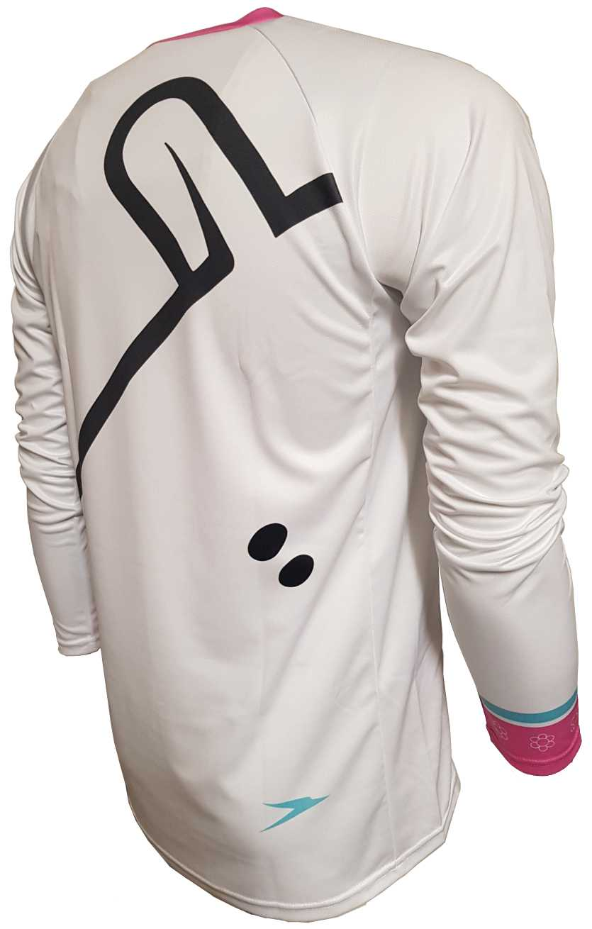 Mint Sauce White Enduro Jersey Back