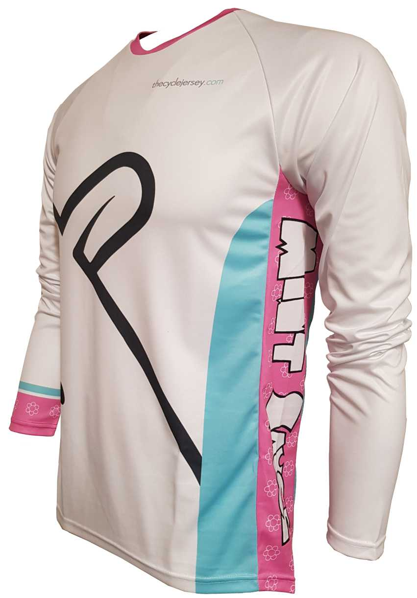 Mint Sauce White Enduro Jersey Front