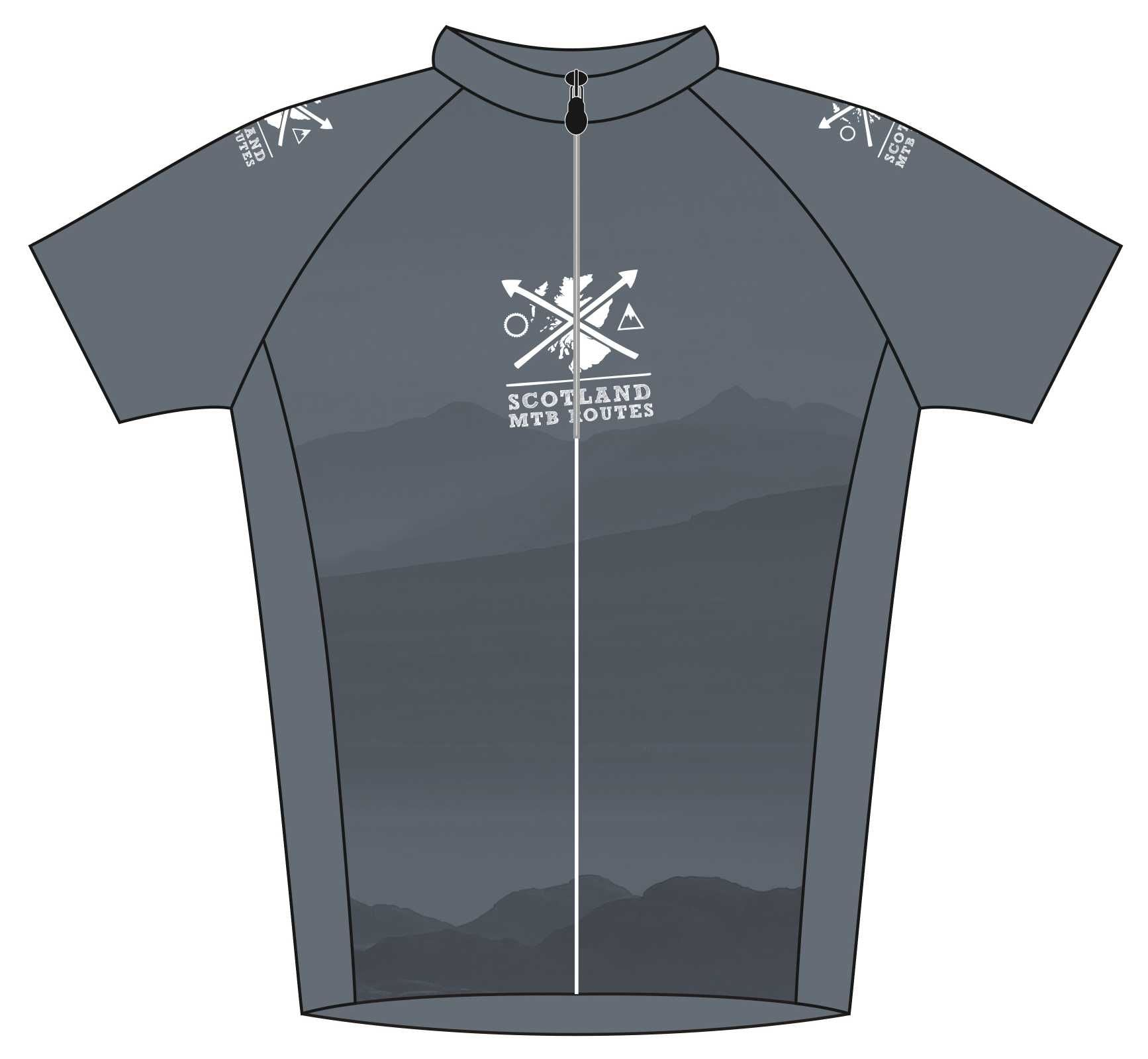 MTB Routes Road Jersey Front