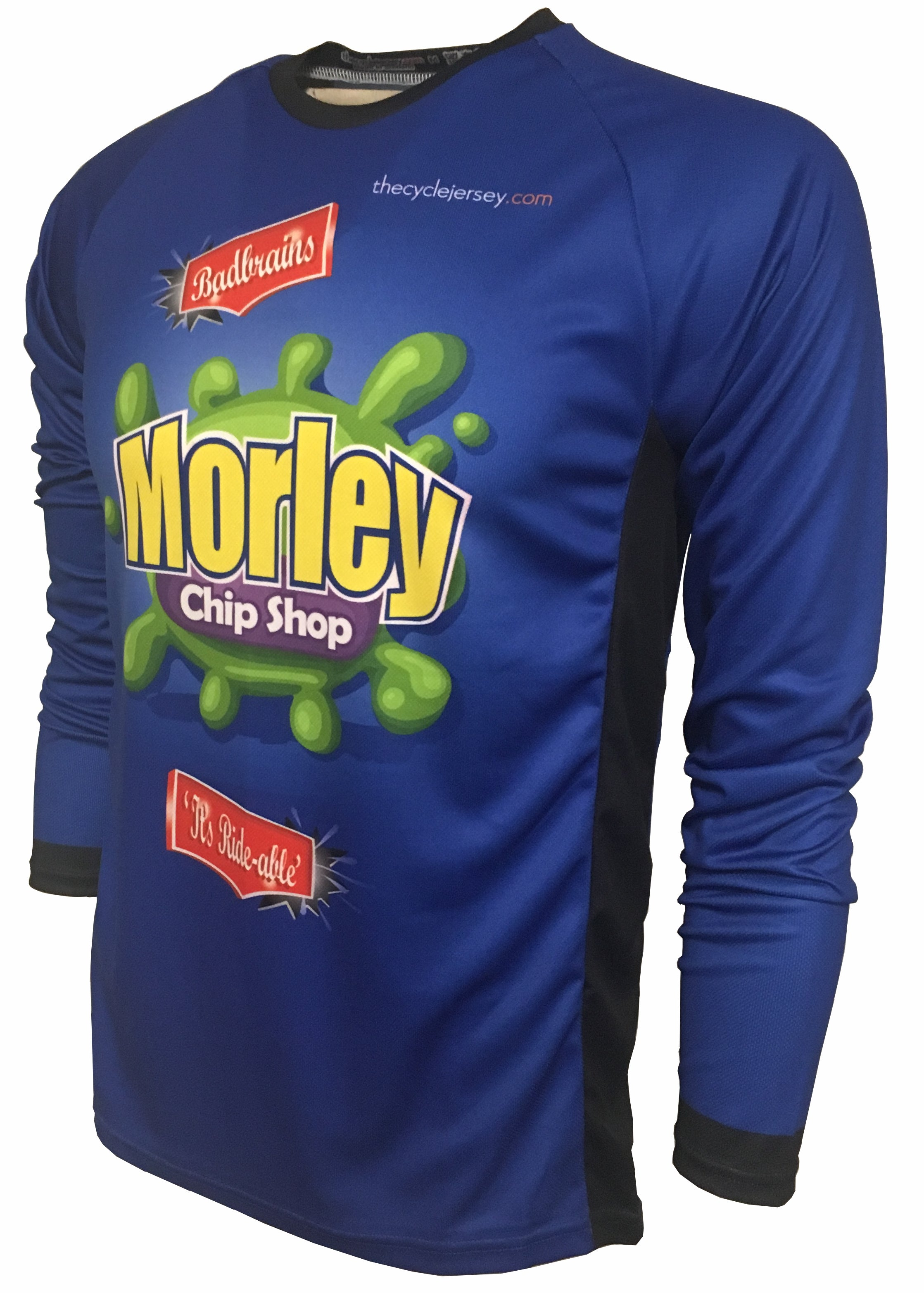Morley Chip Shop Kids Enduro Cycle Jersey Front